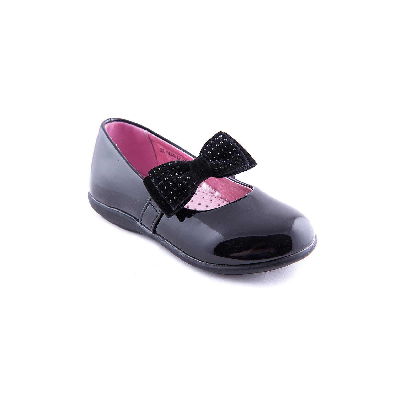 Туфли для девочки Indigo kidsТуфли для девочки от популярной марки Indigo kids.<br>Внимание! Туфли идут размер в размер.<br>Стильные черные туфли станут удобной универсальной обувью для школьных будней. Благодаря банту и лакированному ремешку смотрятся нарядно и модно.<br>Их отличительные особенности:<br>- удобная гибкая подошва;<br>- стильный силуэт;<br>- универсальный черный цвет;<br>- комфортная колодка;<br>- туфли позволяют коже ног дышать;<br>- качественная подкладка из натуральной кожи.<br>Дополнительная информация:<br>- Сезон: демисезонные.<br>- Состав:<br>материал верха: искусственная кожа<br>материал подкладки: натуральная кожа<br>подошва: ТЭП.<br>Туфли для девочки Indigo kids (Индиго кидс) можно купить в нашем магазине.<br><br>Ширина мм: 227<br>Глубина мм: 145<br>Высота мм: 124<br>Вес г: 325<br>Цвет: черный<br>Возраст от месяцев: 36<br>Возраст до месяцев: 48<br>Пол: Женский<br>Возраст: Детский<br>Размер: 27,25,26,29,28,30<br>SKU: 4202859