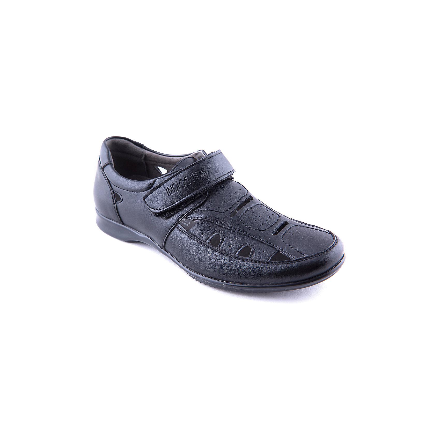 Полуботинки для мальчика Indigo kidsПолуботинки для мальчика от популярной марки Indigo kids.<br><br>Стильные черные полуботинки для мальчика помогут создать нарядный образ в теплое время года, а также станут удобной и элегантной обувью для школы.<br>Их отличительные особенности:<br>- универсальный черный цвет;<br>- комфортная колодка;<br>- удобная гибкая подошва;<br>- полуботинки позволяют коже ног дышать;<br>- надежно и быстро застегиваются на липучку;<br>- качественная подкладка из натуральной кожи.<br>Дополнительная информация:<br>- Сезон: демисезонные.<br>- Состав:<br>материал верха: искусственная кожа<br>материал подкладки: натуральная кожа<br>подошва: ТЭП.<br>Полуботинки для мальчика Indigo kids (Индиго кидс) можно купить в нашем магазине.<br><br>Ширина мм: 262<br>Глубина мм: 176<br>Высота мм: 97<br>Вес г: 427<br>Цвет: черный<br>Возраст от месяцев: 132<br>Возраст до месяцев: 144<br>Пол: Мужской<br>Возраст: Детский<br>Размер: 35,33,37,36,34,32<br>SKU: 4202950