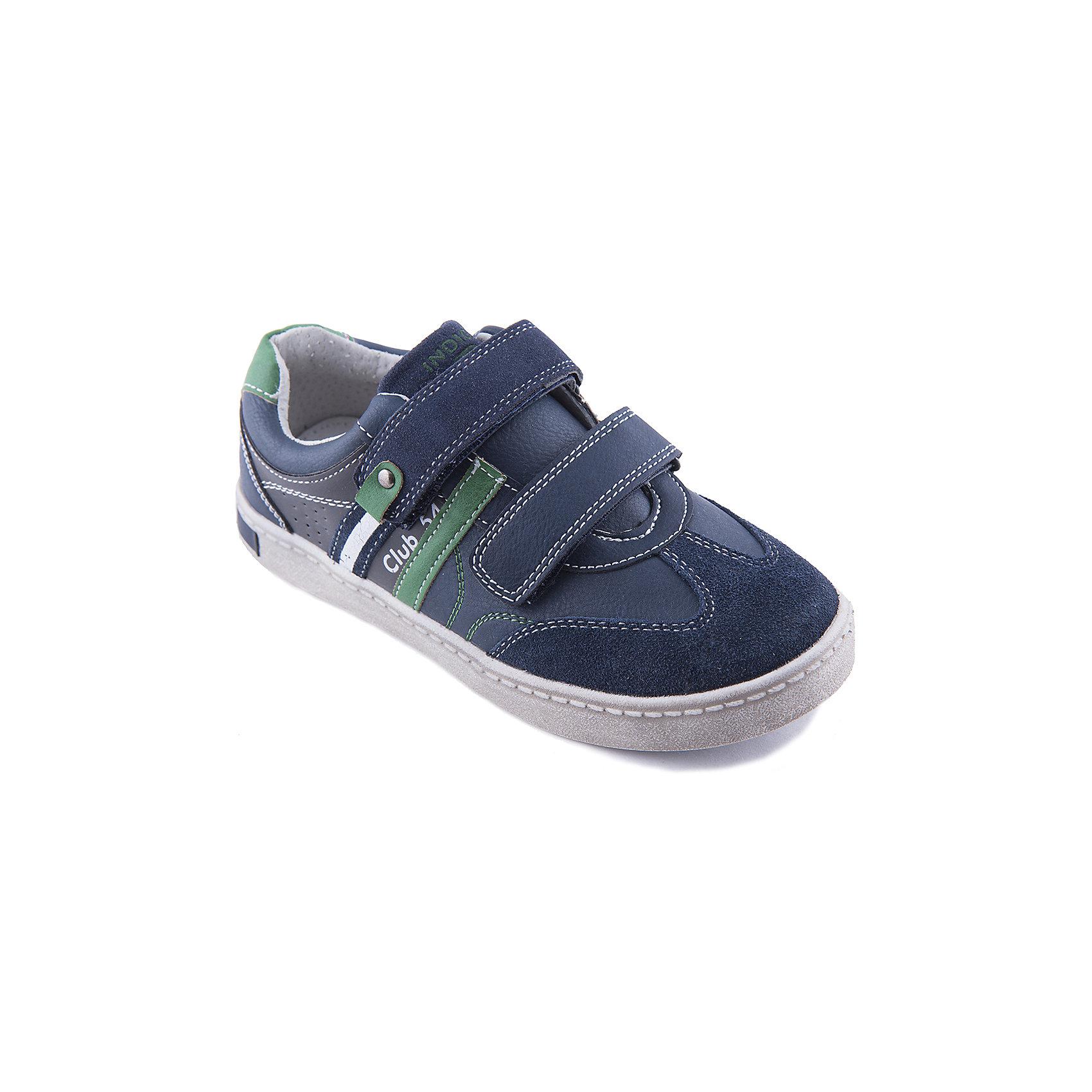 Кеды для мальчика Indigo kidsКеды для мальчика от популярной марки Indigo kids.<br>Модные синие кеды на липучках – это удобная и практичная обувь. Они отлично сочетаются с джинсами и со спортивной одеждой.<br>Отличительные особенности модели:<br>- практичная расцветка;<br>- стильный дизайн;<br>- комфортная колодка;<br>- удобная устойчивая подошва;<br>- материал позволяет коже ног дышать;<br>- застегиваются на две липучки;<br>- качественная подкладка из натуральной кожи;<br>- декорированы цветными вставками из кожи.<br>Дополнительная информация:<br>- Сезон: демисезонные.<br>- Состав:<br>материал верха: искусственная кожа/натуральная кожа<br>материал подкладки: натуральная кожа<br>подошва: ТЭП.<br>Кеды для мальчика Indigo kids (Индиго кидс) можно купить в нашем магазине.<br><br>Ширина мм: 262<br>Глубина мм: 176<br>Высота мм: 97<br>Вес г: 427<br>Цвет: синий<br>Возраст от месяцев: 144<br>Возраст до месяцев: 156<br>Пол: Мужской<br>Возраст: Детский<br>Размер: 36,34,33,35,32,31<br>SKU: 4202978