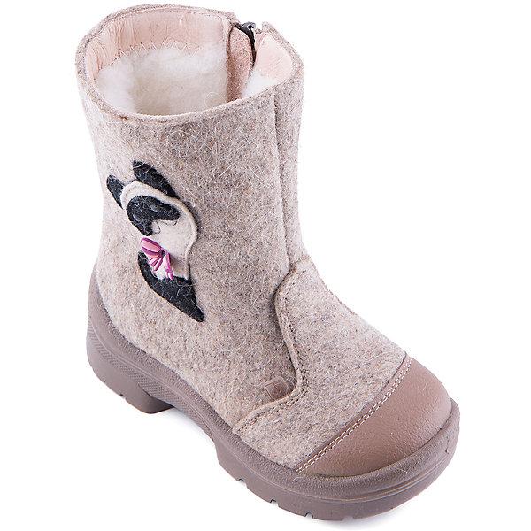 Валенки Мур-Мур для девочки ФилипокВаленки<br>Характеристики товара:<br><br>• цвет: бежевый<br>• температурный режим: от -5° С до -30° С<br>• внешний материал: эко-войлок (натуральная шерсть)<br>• подкладка: натуральная овечья шерсть<br>• стелька: шерстяной войлок (3,5 мм)<br>• подошва: литая, полиуретан<br>• декорированы аппликацией<br>• подошва с анти скользящей с системой протектора anti slip<br>• застежка: молния<br>• защита носка - натуральная кожа с износостойкой пропиткой<br>• усиленная пятка<br>• толстая устойчивая подошва<br>• страна бренда: РФ<br>• страна изготовитель: РФ<br><br>Очень теплые и удобные валенки для ребенка от известного бренда детской обуви Филипок созданы специально для русской зимы. Качественные материалы с пропиткой против попадания воды внутрь и модный дизайн понравятся и малышам и их родителям. Подошва и стелька обеспечат ребенку комфорт, сухость и тепло, позволяя в полной мере наслаждаться зимним отдыхом. Усиленная защита пятки и носка обеспечивает дополнительную безопасность детских ног в этих сапожках.<br>Эта красивая и удобная обувь прослужит долго благодаря отличному качеству. Производитель анти скользящее покрытие и амортизирующие свойства подошвы! Модель производится из качественных и проверенных материалов, которые безопасны для детей.<br><br>Валенки для девочки от бренда Филипок можно купить в нашем интернет-магазине.<br>Ширина мм: 257; Глубина мм: 180; Высота мм: 130; Вес г: 420; Цвет: бежевый; Возраст от месяцев: 24; Возраст до месяцев: 24; Пол: Женский; Возраст: Детский; Размер: 25,23,22,27,29,28,24,26,30; SKU: 4207178;
