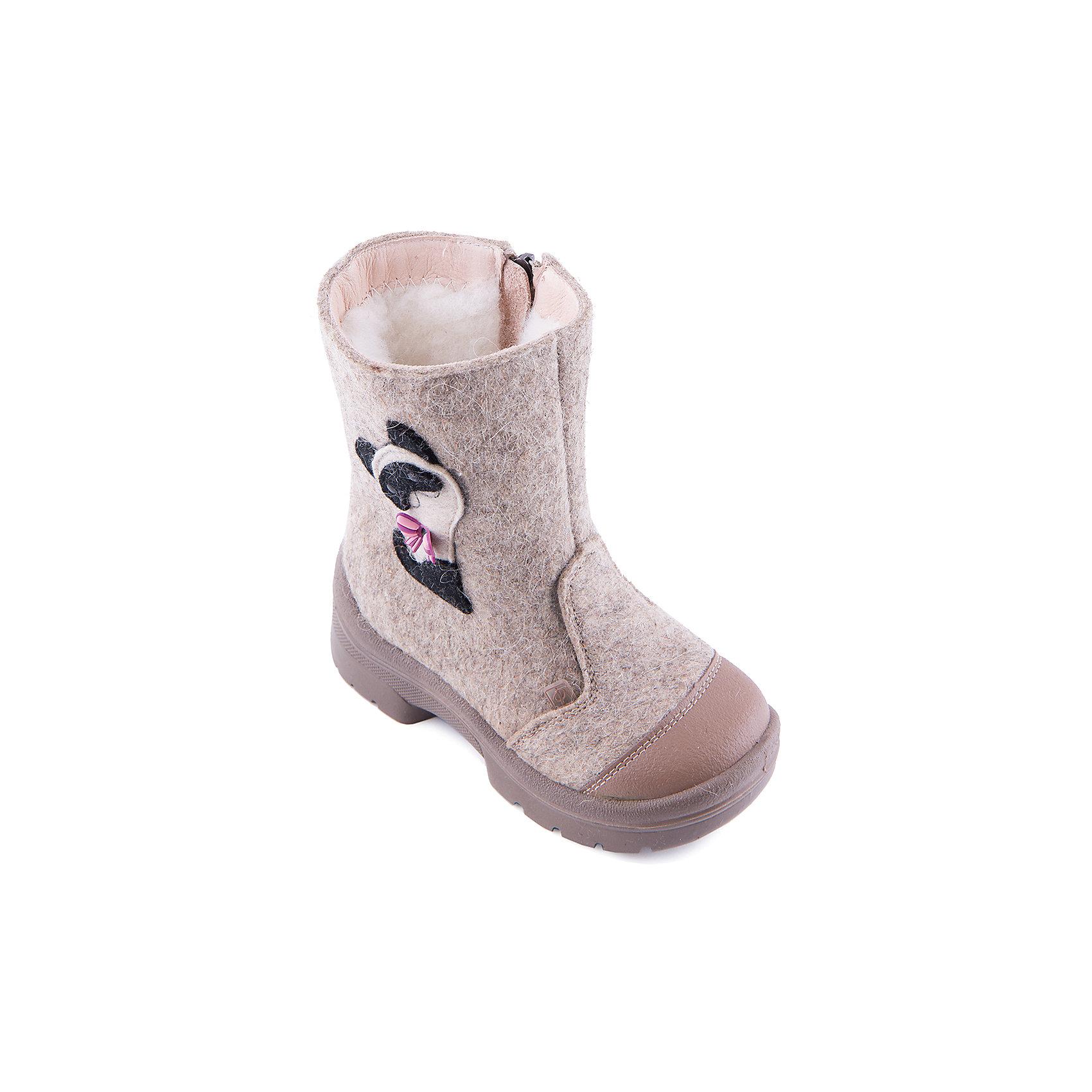 Валенки Мур-Мур для девочки ФилипокВаленки<br>Характеристики товара:<br><br>• цвет: бежевый<br>• температурный режим: от -5° С до -30° С<br>• внешний материал: эко-войлок (натуральная шерсть)<br>• подкладка: натуральная овечья шерсть<br>• стелька: шерстяной войлок (3,5 мм)<br>• подошва: литая, полиуретан<br>• декорированы аппликацией<br>• подошва с анти скользящей с системой протектора anti slip<br>• застежка: молния<br>• защита носка - натуральная кожа с износостойкой пропиткой<br>• усиленная пятка<br>• толстая устойчивая подошва<br>• страна бренда: РФ<br>• страна изготовитель: РФ<br><br>Очень теплые и удобные валенки для ребенка от известного бренда детской обуви Филипок созданы специально для русской зимы. Качественные материалы с пропиткой против попадания воды внутрь и модный дизайн понравятся и малышам и их родителям. Подошва и стелька обеспечат ребенку комфорт, сухость и тепло, позволяя в полной мере наслаждаться зимним отдыхом. Усиленная защита пятки и носка обеспечивает дополнительную безопасность детских ног в этих сапожках.<br>Эта красивая и удобная обувь прослужит долго благодаря отличному качеству. Производитель анти скользящее покрытие и амортизирующие свойства подошвы! Модель производится из качественных и проверенных материалов, которые безопасны для детей.<br><br>Валенки для девочки от бренда Филипок можно купить в нашем интернет-магазине.<br><br>Ширина мм: 257<br>Глубина мм: 180<br>Высота мм: 130<br>Вес г: 420<br>Цвет: бежевый<br>Возраст от месяцев: 18<br>Возраст до месяцев: 21<br>Пол: Женский<br>Возраст: Детский<br>Размер: 23,22,30,26,24,28,29,27,25<br>SKU: 4207178