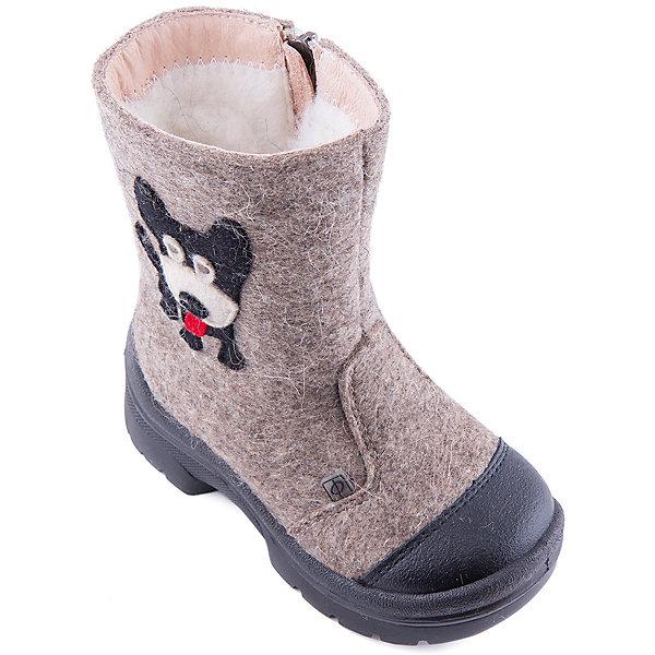 Валенки Гав-Гав для мальчика ФилипокВаленки<br>Характеристики товара:<br><br>• цвет: бежевый<br>• температурный режим: от -5° С до -30° С<br>• внешний материал: эко-войлок (натуральная шерсть)<br>• подкладка: натуральная овечья шерсть<br>• стелька: шерстяной войлок (3,5 мм)<br>• подошва: литая, полиуретан<br>• декорированы аппликацией<br>• подошва с анти скользящей с системой протектора anti slip<br>• застежка: молния<br>• защита носка - натуральная кожа с износостойкой пропиткой<br>• усиленная пятка<br>• толстая устойчивая подошва<br>• страна бренда: РФ<br>• страна изготовитель: РФ<br><br>Очень теплые и удобные валенки для ребенка от известного бренда детской обуви Филипок созданы специально для русской зимы. Качественные материалы с пропиткой против попадания воды внутрь и модный дизайн понравятся и малышам и их родителям. Подошва и стелька обеспечат ребенку комфорт, сухость и тепло, позволяя в полной мере наслаждаться зимним отдыхом. Усиленная защита пятки и носка обеспечивает дополнительную безопасность детских ног в этих сапожках.<br>Эта красивая и удобная обувь прослужит долго благодаря отличному качеству. Производитель анти скользящее покрытие и амортизирующие свойства подошвы! Модель производится из качественных и проверенных материалов, которые безопасны для детей.<br><br>Валенки для мальчика от бренда Филипок можно купить в нашем интернет-магазине.<br><br>Ширина мм: 257<br>Глубина мм: 180<br>Высота мм: 130<br>Вес г: 420<br>Цвет: бежевый<br>Возраст от месяцев: 72<br>Возраст до месяцев: 84<br>Пол: Мужской<br>Возраст: Детский<br>Размер: 30,25,28,29,22,23,24,26,27<br>SKU: 4207188