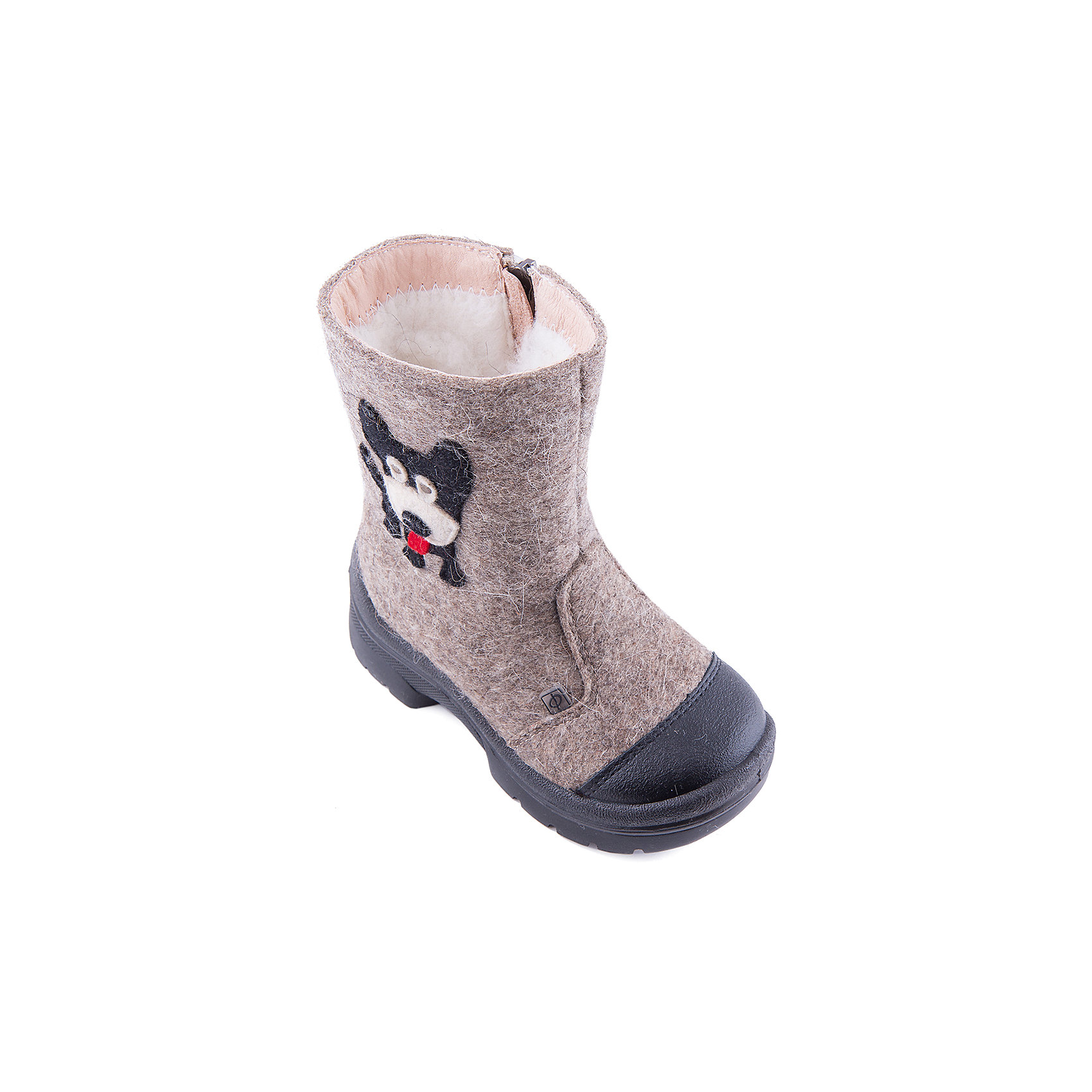 Валенки Гав-Гав для мальчика ФилипокВаленки<br>Характеристики товара:<br><br>• цвет: бежевый<br>• температурный режим: от -5° С до -30° С<br>• внешний материал: эко-войлок (натуральная шерсть)<br>• подкладка: натуральная овечья шерсть<br>• стелька: шерстяной войлок (3,5 мм)<br>• подошва: литая, полиуретан<br>• декорированы аппликацией<br>• подошва с анти скользящей с системой протектора anti slip<br>• застежка: молния<br>• защита носка - натуральная кожа с износостойкой пропиткой<br>• усиленная пятка<br>• толстая устойчивая подошва<br>• страна бренда: РФ<br>• страна изготовитель: РФ<br><br>Очень теплые и удобные валенки для ребенка от известного бренда детской обуви Филипок созданы специально для русской зимы. Качественные материалы с пропиткой против попадания воды внутрь и модный дизайн понравятся и малышам и их родителям. Подошва и стелька обеспечат ребенку комфорт, сухость и тепло, позволяя в полной мере наслаждаться зимним отдыхом. Усиленная защита пятки и носка обеспечивает дополнительную безопасность детских ног в этих сапожках.<br>Эта красивая и удобная обувь прослужит долго благодаря отличному качеству. Производитель анти скользящее покрытие и амортизирующие свойства подошвы! Модель производится из качественных и проверенных материалов, которые безопасны для детей.<br><br>Валенки для мальчика от бренда Филипок можно купить в нашем интернет-магазине.<br><br>Ширина мм: 257<br>Глубина мм: 180<br>Высота мм: 130<br>Вес г: 420<br>Цвет: бежевый<br>Возраст от месяцев: 15<br>Возраст до месяцев: 18<br>Пол: Мужской<br>Возраст: Детский<br>Размер: 22,25,27,30,29,28,26,24,23<br>SKU: 4207188