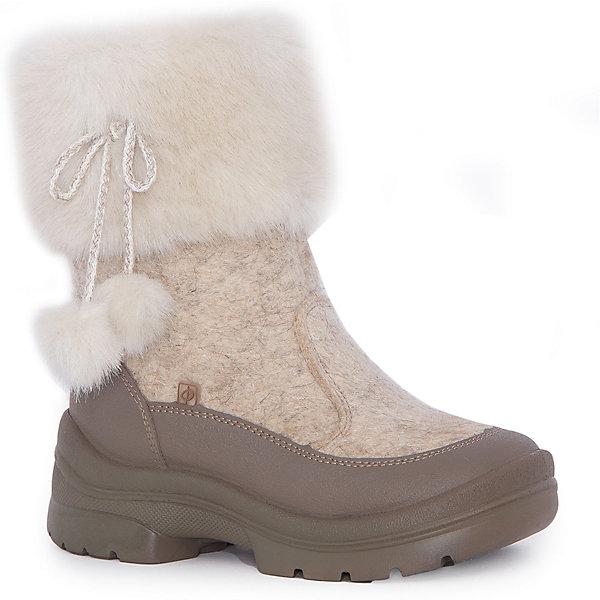 Валенки Лиза для девочки ФилипокВаленки<br>Характеристики товара:<br><br>• цвет: бежевый<br>• температурный режим: от -5° С до -30° С<br>• внешний материал: эко-войлок (натуральная шерсть)<br>• подкладка: натуральная овечья шерсть<br>• стелька: шерстяной войлок (3,5 мм)<br>• подошва: литая, полиуретан<br>• декорированы искусственным мехом<br>• подошва с анти скользящей с системой протектора anti slip<br>• застежка: молния<br>• защита носка - натуральная кожа с износостойкой пропиткой<br>• усиленная пятка<br>• толстая устойчивая подошва<br>• страна бренда: РФ<br>• страна изготовитель: РФ<br><br>Очень теплые и удобные валенки для ребенка от известного бренда детской обуви Филипок созданы специально для русской зимы. Качественные материалы с пропиткой против попадания воды внутрь и модный дизайн понравятся и малышам и их родителям. Подошва и стелька обеспечат ребенку комфорт, сухость и тепло, позволяя в полной мере наслаждаться зимним отдыхом. Усиленная защита пятки и носка обеспечивает дополнительную безопасность детских ног в этих сапожках.<br>Эта красивая и удобная обувь прослужит долго благодаря отличному качеству. Производитель анти скользящее покрытие и амортизирующие свойства подошвы! Модель производится из качественных и проверенных материалов, которые безопасны для детей.<br><br>Валенки для девочки от бренда Филипок можно купить в нашем интернет-магазине.<br>Ширина мм: 257; Глубина мм: 180; Высота мм: 130; Вес г: 420; Цвет: бежевый; Возраст от месяцев: 48; Возраст до месяцев: 60; Пол: Женский; Возраст: Детский; Размер: 24,25,27,29,30,32,26,28,31; SKU: 4207288;