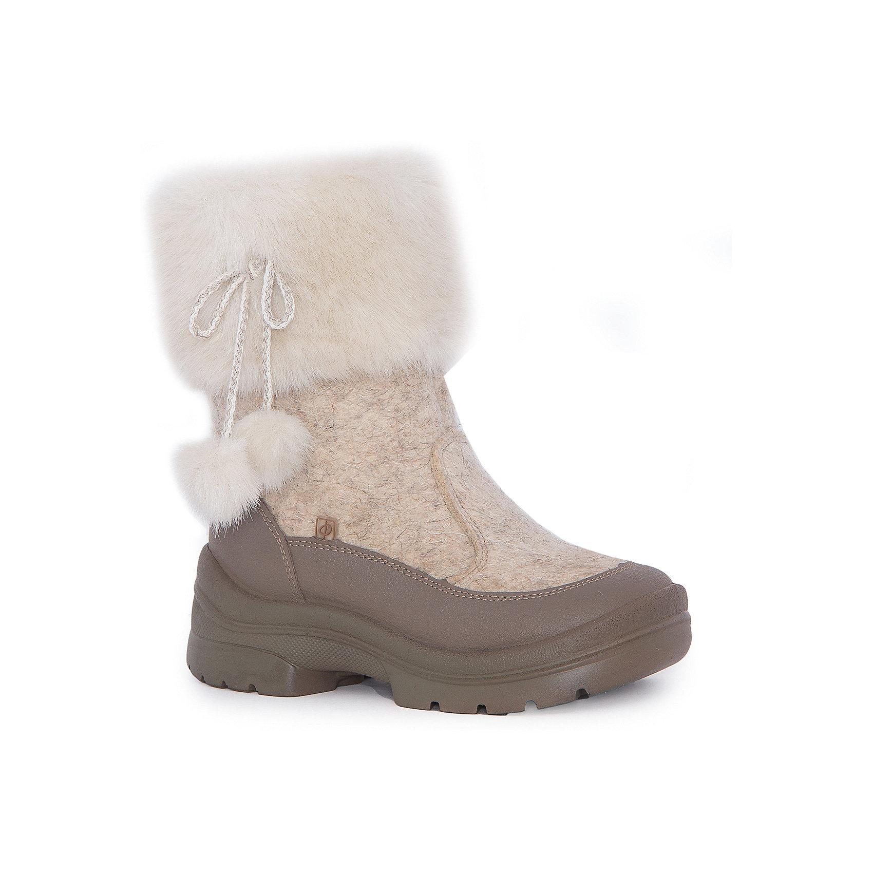 Валенки Лиза для девочки ФилипокВаленки<br>Характеристики товара:<br><br>• цвет: бежевый<br>• температурный режим: от -5° С до -30° С<br>• внешний материал: эко-войлок (натуральная шерсть)<br>• подкладка: натуральная овечья шерсть<br>• стелька: шерстяной войлок (3,5 мм)<br>• подошва: литая, полиуретан<br>• декорированы искусственным мехом<br>• подошва с анти скользящей с системой протектора anti slip<br>• застежка: молния<br>• защита носка - натуральная кожа с износостойкой пропиткой<br>• усиленная пятка<br>• толстая устойчивая подошва<br>• страна бренда: РФ<br>• страна изготовитель: РФ<br><br>Очень теплые и удобные валенки для ребенка от известного бренда детской обуви Филипок созданы специально для русской зимы. Качественные материалы с пропиткой против попадания воды внутрь и модный дизайн понравятся и малышам и их родителям. Подошва и стелька обеспечат ребенку комфорт, сухость и тепло, позволяя в полной мере наслаждаться зимним отдыхом. Усиленная защита пятки и носка обеспечивает дополнительную безопасность детских ног в этих сапожках.<br>Эта красивая и удобная обувь прослужит долго благодаря отличному качеству. Производитель анти скользящее покрытие и амортизирующие свойства подошвы! Модель производится из качественных и проверенных материалов, которые безопасны для детей.<br><br>Валенки для девочки от бренда Филипок можно купить в нашем интернет-магазине.<br><br>Ширина мм: 257<br>Глубина мм: 180<br>Высота мм: 130<br>Вес г: 420<br>Цвет: бежевый<br>Возраст от месяцев: 60<br>Возраст до месяцев: 72<br>Пол: Женский<br>Возраст: Детский<br>Размер: 29,28,32,30,27,25,24,31,26<br>SKU: 4207288