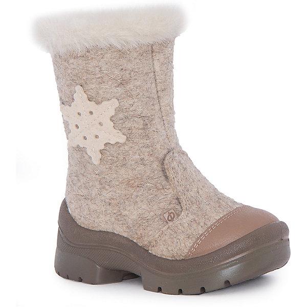 Валенки Молочный шоколад для девочки ФилипокВаленки<br>Характеристики товара:<br><br>• цвет: бежевый<br>• температурный режим: от -5° С до -30° С<br>• внешний материал: эко-войлок (натуральная шерсть)<br>• подкладка: натуральная овечья шерсть<br>• стелька: шерстяной войлок (3,5 мм)<br>• подошва: литая, полиуретан<br>• декорированы аппликацией и опушкой<br>• подошва с анти скользящей с системой протектора anti slip<br>• застежка: молния<br>• защита носка - натуральная кожа с износостойкой пропиткой<br>• усиленная пятка<br>• толстая устойчивая подошва<br>• страна бренда: РФ<br>• страна изготовитель: РФ<br><br>Очень теплые и удобные валенки для ребенка от известного бренда детской обуви Филипок созданы специально для русской зимы. Качественные материалы с пропиткой против попадания воды внутрь и модный дизайн понравятся и малышам и их родителям. Подошва и стелька обеспечат ребенку комфорт, сухость и тепло, позволяя в полной мере наслаждаться зимним отдыхом. Усиленная защита пятки и носка обеспечивает дополнительную безопасность детских ног в этих сапожках.<br>Эта красивая и удобная обувь прослужит долго благодаря отличному качеству. Производитель анти скользящее покрытие и амортизирующие свойства подошвы! Модель производится из качественных и проверенных материалов, которые безопасны для детей.<br><br>Валенки для девочки от бренда Филипок можно купить в нашем интернет-магазине.<br><br>Ширина мм: 257<br>Глубина мм: 180<br>Высота мм: 130<br>Вес г: 420<br>Цвет: бежевый<br>Возраст от месяцев: 21<br>Возраст до месяцев: 24<br>Пол: Женский<br>Возраст: Детский<br>Размер: 24,28,27,26,31,25,30,32,29<br>SKU: 4207378
