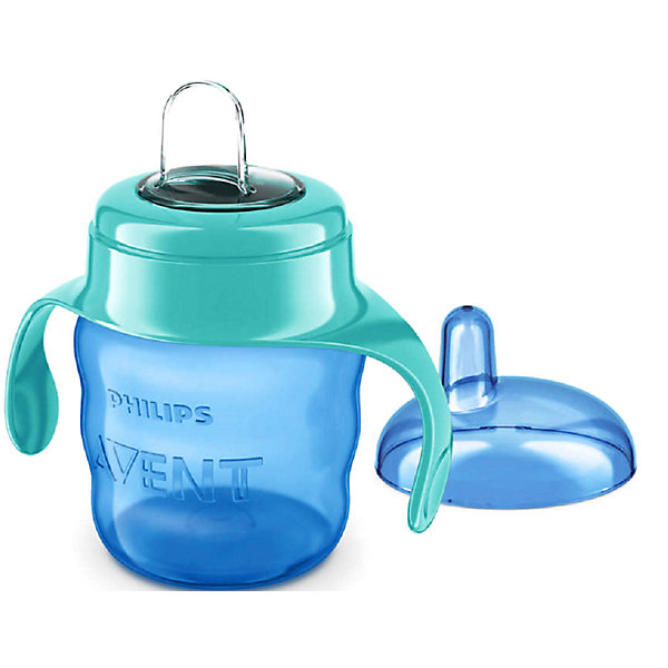 Чашка-поильник с носиком Comfort, 200 мл, Avent, голубой/зеленыйПоильники<br>Чашка-поильник с носиком Comfort - идеальный вариант для уже подросших малышей! Форма контейнера чашки, разработанная специально для маленьких ручек, обеспечивает удобный захват. Мягкий гибкий силиконовый носик защищает нежные десны малыша. Клапан встроен в носик, что ускоряет и облегчает сборку. Поильник изготовлен из  высококачественных экологичных материалов, абсолютно безопасных для детей.<br><br>Дополнительная информация:<br><br>- Материал: пластик, силикон.<br>- Не содержит бисфенол-А.<br>- Объем: 200 мл.<br>- Цвет: голубой/зеленый.<br>- Эргономичная форма. <br>- Мягкий гибкий силиконовый носик.<br>- Удобные ручки.<br><br>Чашку-поильник с носиком Comfort, 200 мл, Avent (Авент), голубой/зеленый можно купить в нашем магазине.<br>Ширина мм: 68; Глубина мм: 111; Высота мм: 164; Вес г: 85; Цвет: зеленый; Возраст от месяцев: 6; Возраст до месяцев: 36; Пол: Унисекс; Возраст: Детский; SKU: 4207805;