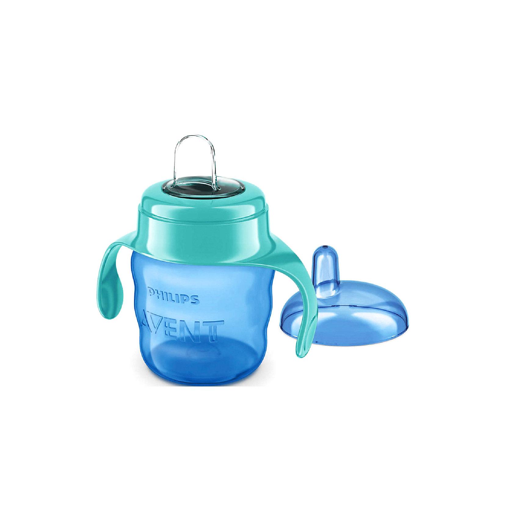 Чашка-поильник с носиком Comfort, 200 мл, Avent, голубой/зеленыйПоильники<br>Чашка-поильник с носиком Comfort - идеальный вариант для уже подросших малышей! Форма контейнера чашки, разработанная специально для маленьких ручек, обеспечивает удобный захват. Мягкий гибкий силиконовый носик защищает нежные десны малыша. Клапан встроен в носик, что ускоряет и облегчает сборку. Поильник изготовлен из  высококачественных экологичных материалов, абсолютно безопасных для детей.<br><br>Дополнительная информация:<br><br>- Материал: пластик, силикон.<br>- Не содержит бисфенол-А.<br>- Объем: 200 мл.<br>- Цвет: голубой/зеленый.<br>- Эргономичная форма. <br>- Мягкий гибкий силиконовый носик.<br>- Удобные ручки.<br><br>Чашку-поильник с носиком Comfort, 200 мл, Avent (Авент), голубой/зеленый можно купить в нашем магазине.<br><br>Ширина мм: 68<br>Глубина мм: 111<br>Высота мм: 164<br>Вес г: 85<br>Цвет: зеленый<br>Возраст от месяцев: 6<br>Возраст до месяцев: 36<br>Пол: Унисекс<br>Возраст: Детский<br>SKU: 4207805