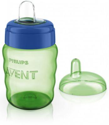 Чашка-поильник с носиком Comfort, 260 мл, Avent, зеленый/синий Чашка-поильник с носиком Comfort, 260 мл, Avent, /синий