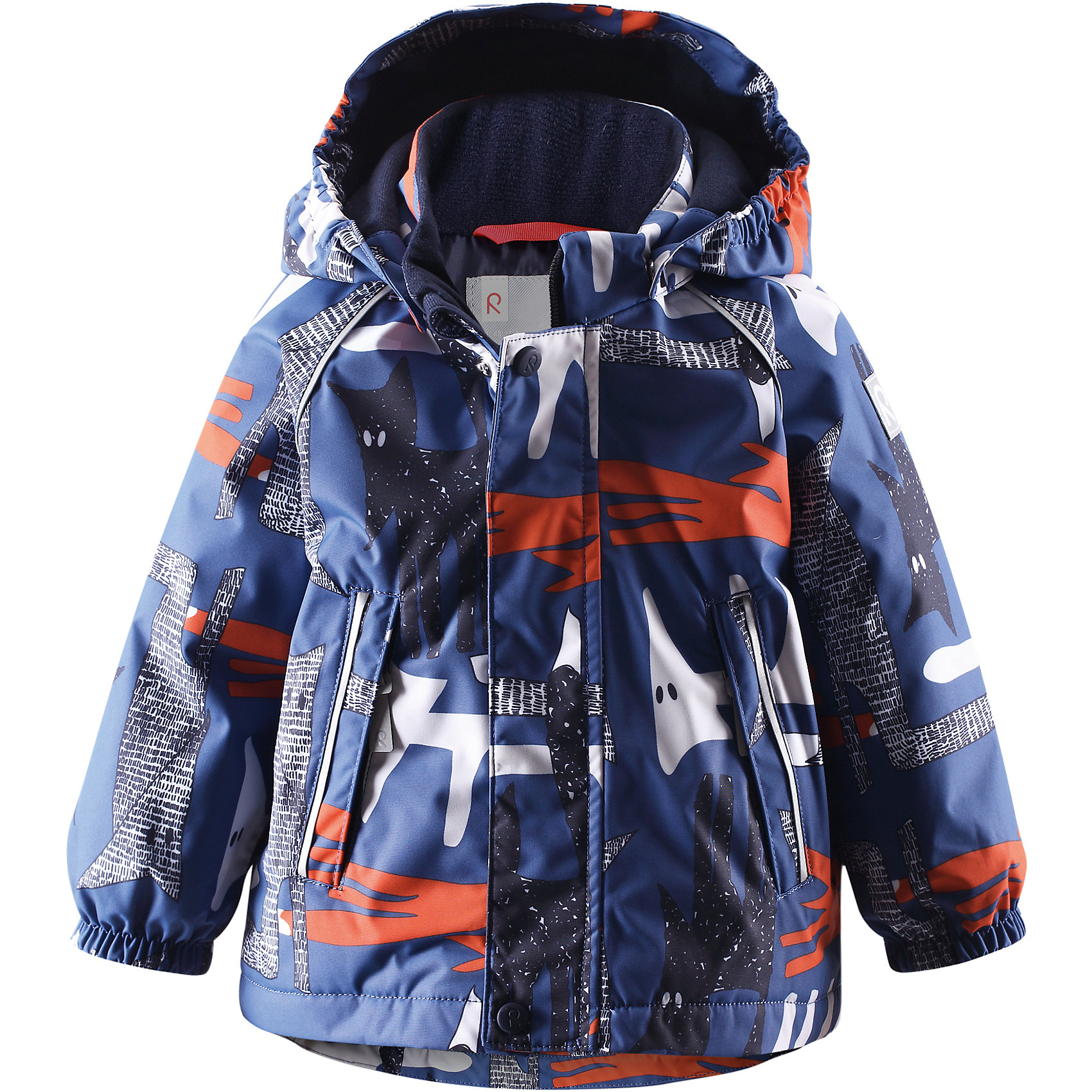 Куртка для мальчика Reimatec® ReimaХитрые лисички спрятались в каждой прелестной курточке для малышей! Водонепроницаемая зимняя мембранная куртка для малышей с весёлым принтом просто создана для зимних развлечений! Водонепроницаемая зимняя куртка пошита из ветронепроницаемого, пропускающего воздух материала, который отталкивает грязь и влагу. Все швы куртки от Reimatec® (Рейматек) проклеены, водонепроницаемы, чтобы никакая погода не смогла помешать весёлым зимним приключениям! Ткань пропускает воздух, поэтому ребёнок не вспотеет, как бы быстро он ни двигался. Чтобы куртка легко одевалась и удобно носилась с тёплым промежуточным слоем, она имеет подкладку из гладкого полиэстера. Вы заметили, что к куртке можно легко пристегнуть многие из промежуточных слоёв Reima? Благодаря удобным кнопкам для пристегивания промежуточного слоя к верхней одежде по системе Playlayers®, многие флисовые кофты можно пристегнуть к куртке, чтобы малышу было теплее и комфортнее. Съёмный и регулируемый капюшон не только защищает от холодного ветра, но и безопасен во время игр на свежем воздухе! Если закреплённый кнопками капюшон зацепится за что-нибудь, он легко отстегнётся. Капюшон отделан мягким полиэстером с начёсом. Когда пойдёте гулять, в карманы на молниях можно положить крошечные сокровища, а светоотражающие детали обеспечат видимость в темноте. Эта куртка не требует особого ухода. Можно сушить в центрифуге.<br><br>Водонепроницаемая зимняя куртка для малышей<br>Все швы проклеены, водонепроницаемы<br>Безопасный съёмный капюшон<br>Два кармана на молниях<br>Светоотражающие детали для безопасности<br>Состав:<br>100% ПЭ, ПУ-покрытие<br>Средняя степень утепления (до - 20)<br><br>Куртку Reimatec® (Рейматек) Reima (Рейма) можно купить в нашем магазине.<br><br>Ширина мм: 356<br>Глубина мм: 10<br>Высота мм: 245<br>Вес г: 519<br>Цвет: голубой<br>Возраст от месяцев: 24<br>Возраст до месяцев: 36<br>Пол: Мужской<br>Возраст: Детский<br>Размер: 98,92,80,74,86<br>SKU: 4208113