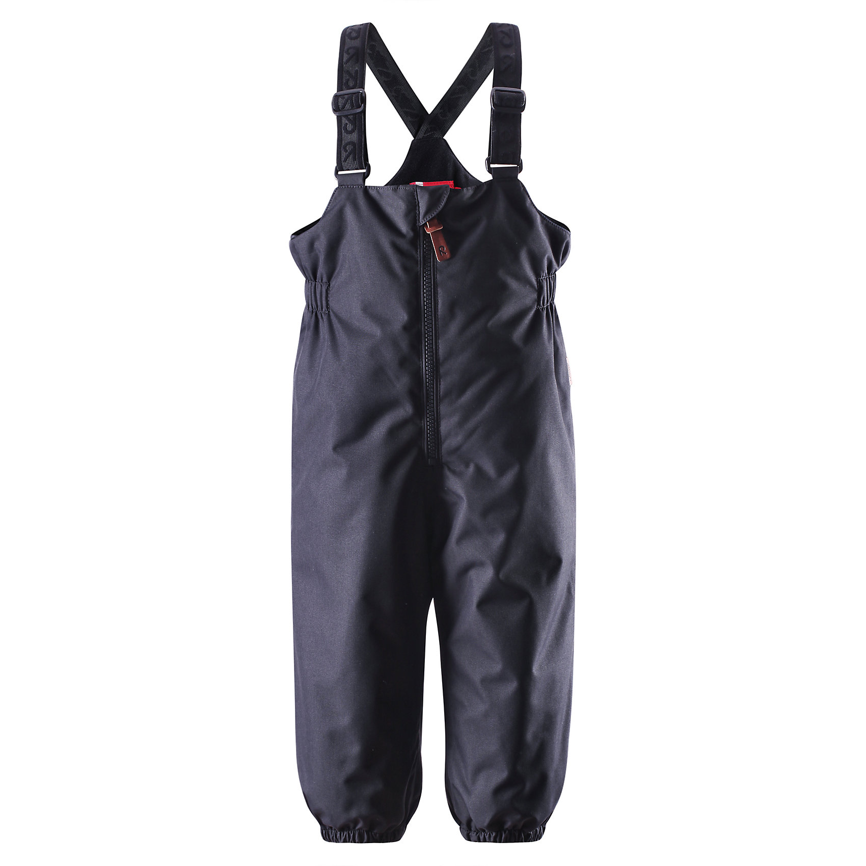 Брюки для мальчика ReimaЭти популярные у малышей брюки из коллекции ORIGINAL от Reima (Рейма) так и зовут повеселиться в зимний денёк! Эти великолепные практичные брюки подходят для всех видов зимнего отдыха на свежем воздухе. Дети не вспотеют играя в водонепроницаемых, пропускающих воздух брюках. Поверхность материала отталкивает воду и грязь. Завышенная талия и регулируемые подтяжки гарантируют, что брюки будут сидеть по фигуре, а длинная молния спереди облегчит одевание. Благодаря дополнительно утеплённой задней части брюк, малыши не замёрзнут катаясь на санках и скользя в снегу. Эластичные штрипки удержат концы брючин на своём месте во время прогулки. Эти надёжные брюки теперь можно приобрести в великолепных модных в этом сезоне расцветках!<br><br> Водонепроницаемые зимние брюки для малышей в стиле ORIGINAL<br> Основные швы проклеены, водонепроницаемы<br> Регулируемые подтяжки<br> Длинная молния спереди<br> Дополнительно утеплённая задняя часть брюк<br> Съёмные эластичные штрипки<br>Состав:<br>100% ПЭ, ПУ-покрытие<br>Средняя степень утепления (до - 20)<br>Утеплитель: 140 г<br><br>Брюки Reima (Рейма) можно купить в нашем магазине.<br><br>Ширина мм: 215<br>Глубина мм: 88<br>Высота мм: 191<br>Вес г: 336<br>Цвет: черный<br>Возраст от месяцев: 18<br>Возраст до месяцев: 24<br>Пол: Мужской<br>Возраст: Детский<br>Размер: 92,98,86,80,74<br>SKU: 4208239