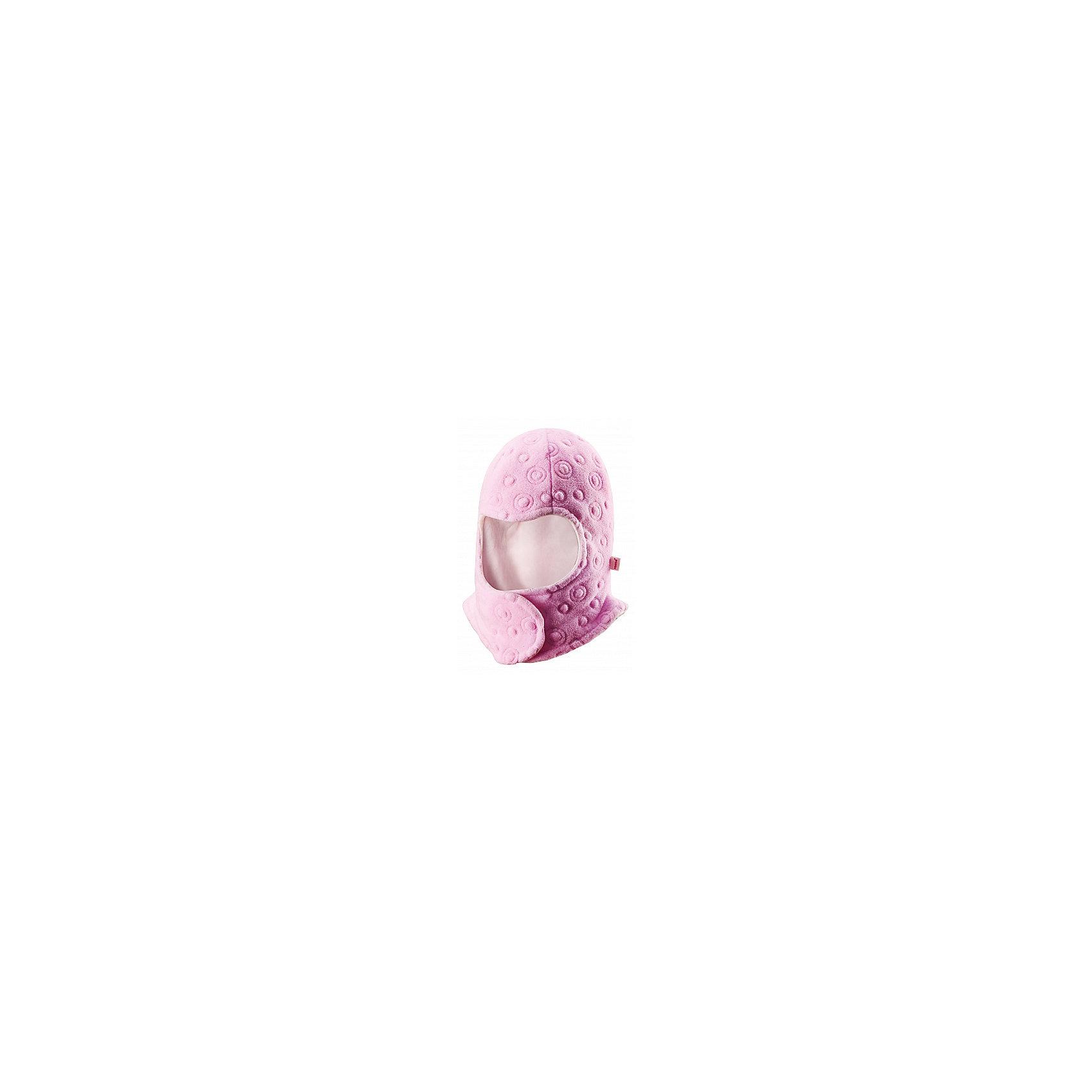 Шапка-шлем для девочки ReimaЗабавная, но в то же время функциональная балаклава - одна из наших новейших разработок! Предназначен для новорожденных и младенцев. Очень удобная липучка спереди облегчает одевание. Продуманный дизайн обеспечивает надежную защиту подбородка, шеи и щечек ребенка, а вставки в области ушей позволяют держать маленькие ушки в тепле! Легкая мягкая хлопчатобумажная подкладка не раздражает кожу, отлично подходит для зимы. Прекрасно сочетается с варежками Tyst!<br><br>Детская балаклава из флиса с вышивкой <br>Задние швы отсутствуют<br>Легкая мягкая хлопчатобумажная подкладка с начесом<br>Ветронепроницаемые вставки в области ушей<br>Спереди на липучке<br>Сочетается с варежками 517116 Tyst<br>Состав:<br>100% ПЭ<br><br><br>Шапку-шлем Reima (Рейма) можно купить в нашем магазине.<br><br>Ширина мм: 89<br>Глубина мм: 117<br>Высота мм: 44<br>Вес г: 155<br>Цвет: розовый<br>Возраст от месяцев: 4<br>Возраст до месяцев: 6<br>Пол: Женский<br>Возраст: Детский<br>Размер: 44-46,40,36<br>SKU: 4208586
