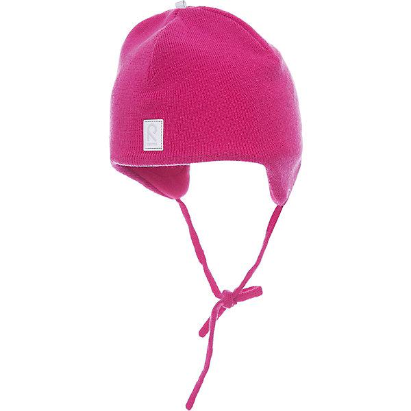 Шапка для девочки ReimaШапки и шарфы<br>Шерстяная шапка для малышей в модных цветах сезона согреет в морозную погоду и холодные зимние дни: мягкая подкладка из флиса создает ощущение тепла и комфорта. Шерстяная шапка с подкладкой из флиса особенно хорошо подходит для маленьких приключений на свежем воздухе, потому что флис быстро высыхает и хорошо выводит влагу. Благодаря эластичной вязке шапка плотно прилегает, а ветронепроницаемые вставки в области ушей защищают от холодного ветра. Завязки надёжно удерживают стильную шапку на голове. Для завершения стильного образа носите с тёплой горловиной Star!<br><br>Шерстяная шапка для малышей <br>Полностью на подкладке: Мягкий тёплый флис<br>Ветронепроницаемые вставки в области ушей <br>Доступна в однотонном и полосатом вариантах<br>Состав:<br>100% Шерсть<br><br><br>Шапку Reima (Рейма) можно купить в нашем магазине.<br><br>Ширина мм: 89<br>Глубина мм: 117<br>Высота мм: 44<br>Вес г: 155<br>Цвет: розовый<br>Возраст от месяцев: 6<br>Возраст до месяцев: 9<br>Пол: Женский<br>Возраст: Детский<br>Размер: 46,48,52,50<br>SKU: 4208695