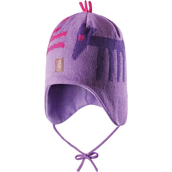 Шапка для девочки ReimaШапочки<br>Эй, лисички! Эта теплая шерстяная шапочка согреет в морозный зимний день! Подкладка из мягкого хлопчатобумажной трикотажа приятна коже и позволяет держать головку в тепле. Ветронепроницаемые вставки в области ушей защитят маленькие уши от холодного ветра, а шнурочки не позволят шапочке соскользнуть во время катания на санках. Шапочка хорошо защитит маленькие уши и лоб в холодную погоду.<br><br> Шерстяная шапочка для малышей и детей постарше<br> Спереди декоративная вышивка<br> Сплошная подкладка: мягкая хлопчатобумажная подкладка<br>Ветронепроницаемые вставки в области ушей <br>Забавный рисунок «лисица»<br>Состав:<br>100% Шерсть<br><br><br>Шапку Reima (Рейма) можно купить в нашем магазине.<br>Ширина мм: 89; Глубина мм: 117; Высота мм: 44; Вес г: 155; Цвет: лиловый; Возраст от месяцев: 24; Возраст до месяцев: 36; Пол: Женский; Возраст: Детский; Размер: 50,52,46,48,54; SKU: 4208771;