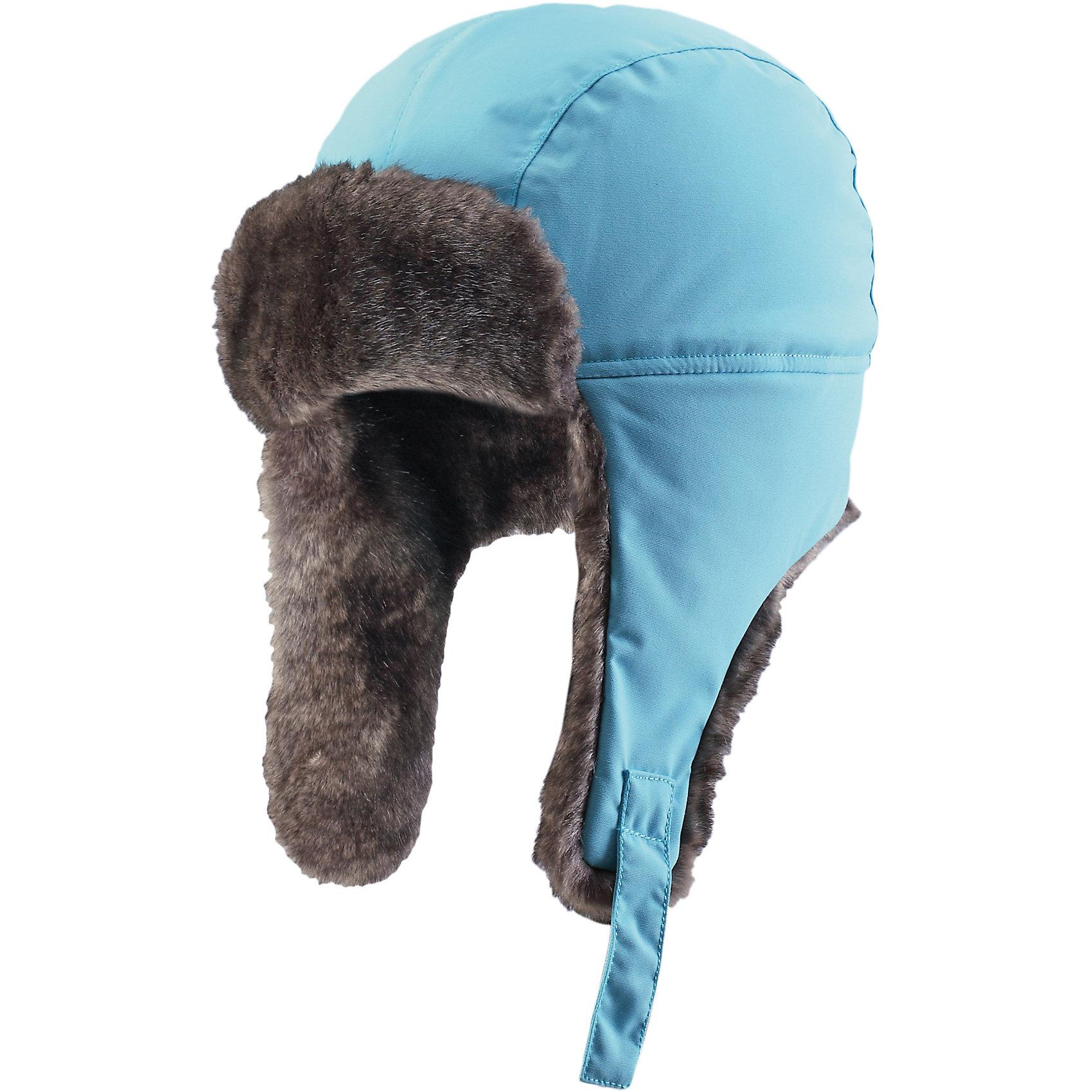 Шапка ReimaДля всех подвижных и весёлых игр нужна красивая одежда! Эта шапка для малышей и детей постарше - лучший выбор для холодной и ветреной зимней погоды. Она очень тёплая и защитит в любую погоду, поэтому подходит для самых активных искателей приключений, которые не боятся внезапной метели. Шапка сделана из ветро- и водонепроницаемого материала и в то же время пропускает воздух. Все швы проклеены, поэтому голова останется сухой и будет хорошо защищена. Очень мягкая подкладка с начёсом создаёт стильный образ! Удобная застёжка на кнопке, благодаря которой шапка прочно держится на голове. Кроме того, сзади имеется светоотражающий логотип компании Reima, который обеспечивает видимость в темноте.<br><br>Зимняя шапка для детей и подростков. Подходит для очень плохой погоды<br>Прочный ветро- и водонепроницаемый материал<br>Все швы проклеены для водонепроницаемости<br>Утеплитель 100 г<br>Полностью на подкладке: Мягкая вязаная из полиэстера с начёсом<br>Застёгивается на кнопку<br><br>Состав:<br>100% ПА, ПУ-покрытие<br>Средняя степень утепления (до - 20)<br><br>Шапку Reima (Рейма) можно купить в нашем магазине.<br><br>Ширина мм: 89<br>Глубина мм: 117<br>Высота мм: 44<br>Вес г: 155<br>Цвет: голубой<br>Возраст от месяцев: 84<br>Возраст до месяцев: 96<br>Пол: Унисекс<br>Возраст: Детский<br>Размер: 58,48,52,54,50,56<br>SKU: 4210422