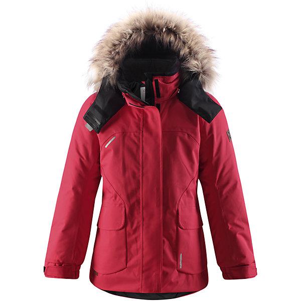 Куртка для девочки Reimatec® ReimaВерхняя одежда<br>Этой элегантной зимней куртке для детей в классическом стиле не страшны ни время, ни изнашивание! Эта куртка, пошитая из одобренного bluesign® водо- и ветронепроницаемого материала, великолепно подойдёт для любых видов зимних развлечений. Все швы проклеены для водонепроницаемости, чтобы ребёнок оставался сухим и не замёрз во время длинной прогулки на свежем воздухе. Ткань пропускает воздух, поэтому ребёнок не вспотеет, даже если будет двигаться очень быстро. Куртка с подкладкой из гладкого полиэстера легко надевается и удобно носится с тёплым промежуточным слоем. Женственный удлиненный, прилегающий силуэт сочетается с фиксированной утяжкой сзади и регулируемыми манжетами. Съёмный капюшон дополнен стильным искусственным мехом, который при желании можно отстегнуть. Защитный капюшон не представляет опасности во время игры на улице, потому что легко отстёгивается, если за что-нибудь зацепится. Развлекаясь на улице, самые ценные маленькие вещицы можно спрятать в два кармана с клапанами. Эта куртка не требует особого ухода. Можно сушить в центрифуге.<br><br>Водонепроницаемая зимняя куртка для подростков, модель для девочек<br>Основной материал - bluesign®<br>Все швы проклеены, водонепроницаемы<br>Безопасный съёмный регулируемый капюшон, украшенный отстёгивающимся искусственным мехом<br>Два боковых кармана с клапанами<br><br>Состав:<br>100% ПА, ПУ-покрытие<br>Средняя степень утепления (до - 20)<br>Утеплитель: 140 г<br><br>Куртку для девочки Reimatec® (Рейматек) Reima (Рейма) можно купить в нашем магазине.<br>Ширина мм: 356; Глубина мм: 10; Высота мм: 245; Вес г: 519; Цвет: красный; Возраст от месяцев: 96; Возраст до месяцев: 108; Пол: Женский; Возраст: Детский; Размер: 158,152,164,146,140,128,122,116,110,134,104; SKU: 4210454;