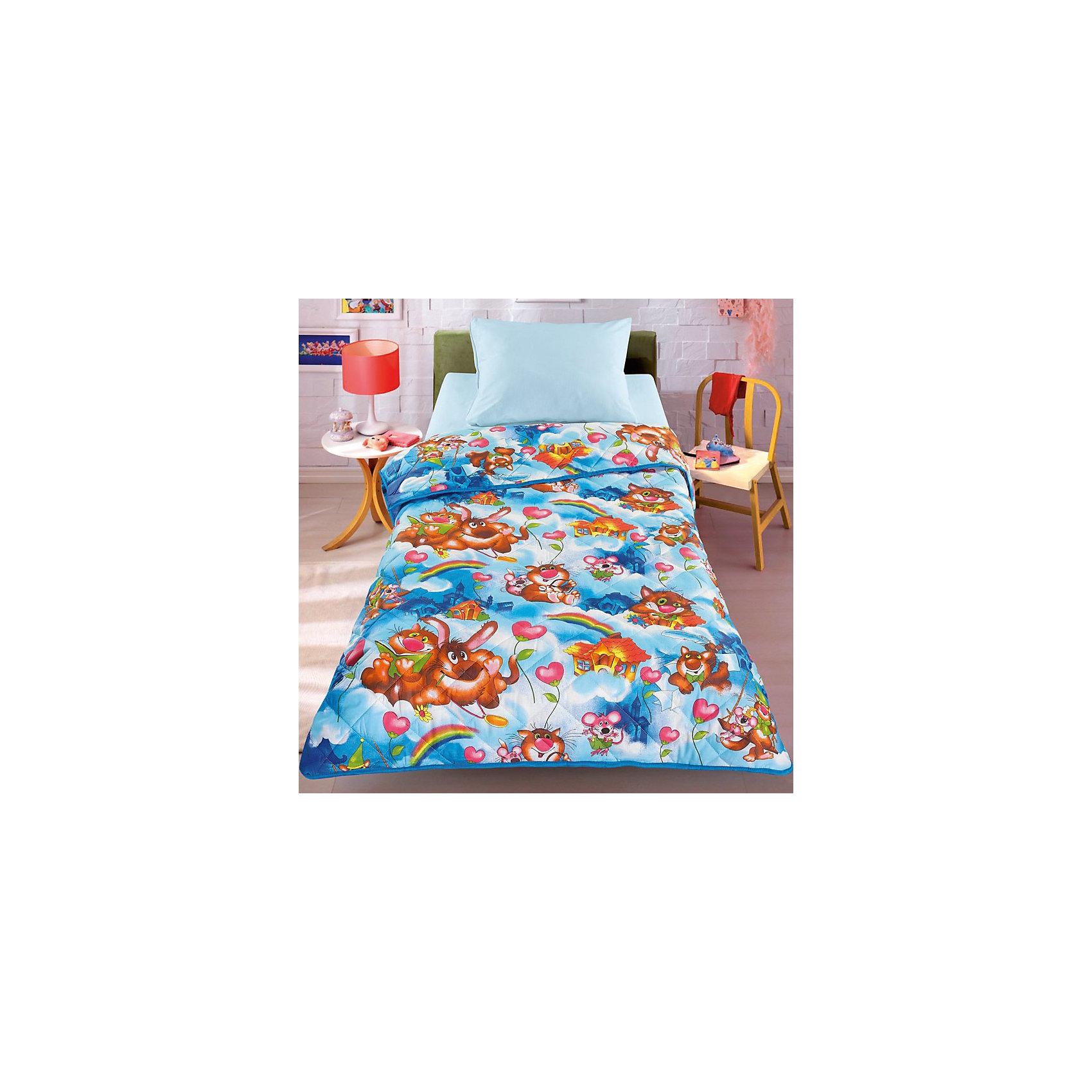 Одеяло-покрывало На радуге 110*140 смОдеяло-покрывало На радуге 110*140 см – эффектно дополнит интерьер комнаты и обеспечит комфортный сон вашему ребенку.<br>Стеганое облегченное одеяло-покрывало на силиконизированном волокне, с двусторонним дизайном украсит детскую комнату и будет радовать вашего малыша в течение всего года. Сидеть на таком покрывале будет приятно и комфортно - ведь оно выполнено из 100% хлопка. К тому же его можно использовать и как одеяло на детскую кровать. Вашему ребенку не будет жарко под таким одеялом, а это значит, он не будет раскрываться. Наполнитель силиконизированное волокно не слеживается и не сваливается с течением времени, обеспечивая текстильным изделиям долгий срок службы. Одеяло-покрывало подлежит машинной стирке при температуре 30 гр., строго на деликатном режиме.<br><br>Дополнительная информация:<br><br>- Размер: 110 х 140 см.<br>- Материал: 100% хлопок, силиконизированное волокно.<br><br>Одеяло-покрывало На радуге 110*140 см можно купить в нашем интернет-магазине.<br><br>Ширина мм: 400<br>Глубина мм: 100<br>Высота мм: 500<br>Вес г: 2000<br>Возраст от месяцев: 0<br>Возраст до месяцев: 72<br>Пол: Унисекс<br>Возраст: Детский<br>SKU: 4212659