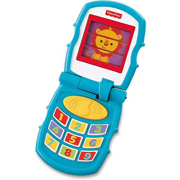Дружелюбный раскладной телефон, Fisher-PriceДетские планшеты и телефоны<br>Детский дружелюбный раскладной телефон отвечает на каждое действие малыша. Каждый раз, когда ребенок открывает крышку, он слышит забавные звуки и приветствие от одного из трех персонажей. Персонажи сменяются каждый раз после закрытия телефона, при следующем открытии ребенок услышит уже другие звуки, что заставит его открывать телефон еще и еще раз. Нажатие кнопки включит один из трех рингтонов, а нажатие кнопок с цифрами — один из четырех звуков. Малышу понравится звонить своим друзьям по такому телефону!<br><br>Дополнительная информация<br><br>- Материал: пластик.<br>- Размер в закрытом виде 8 х 6,5 х 4 см; в открытом - 15 х 6,5 х 2 см.<br>- Звуковые эффекты.<br>- Элемент питания: 3 батарейки типа LR44 (входят в комплект).<br><br>Дружелюбный раскладной телефон, Fisher-Price можно купить в нашем магазине.<br><br>Ширина мм: 205<br>Глубина мм: 110<br>Высота мм: 50<br>Вес г: 159<br>Возраст от месяцев: 6<br>Возраст до месяцев: 36<br>Пол: Унисекс<br>Возраст: Детский<br>SKU: 4212684