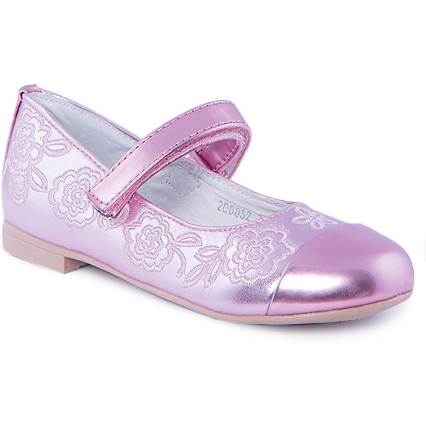 Туфли для девочки MURSUОбувь<br>Туфли для девочки от известного бренда MURSU обязательно понравятся всем юным модницам. Блестящие розовые туфельки декорированы изящной вышивкой, застегиваются на липучку. Модель имеет небольшой каблук, стелька и подкладка выполнены из натуральной кожи, что обеспечивает гигиеничность и комфорт. <br><br>Дополнительная информация:<br><br>- Цвет: розовый.<br>- Тип застежки: липучка.<br>- Декоративные элементы: вышивка.<br><br>Состав:<br><br>- Материал верха: искусственная кожа.<br>- Материал подкладки: натуральная кожа.<br>- Материал подошвы: TEP.<br>- Материал стельки: натуральная кожа.<br><br>Туфли для девочки MURSU (Мурсу), можно купить в нашем магазине.<br>Ширина мм: 227; Глубина мм: 145; Высота мм: 124; Вес г: 325; Цвет: розовый; Возраст от месяцев: 36; Возраст до месяцев: 48; Пол: Женский; Возраст: Детский; Размер: 27,31,29,26,30,28; SKU: 4213384;