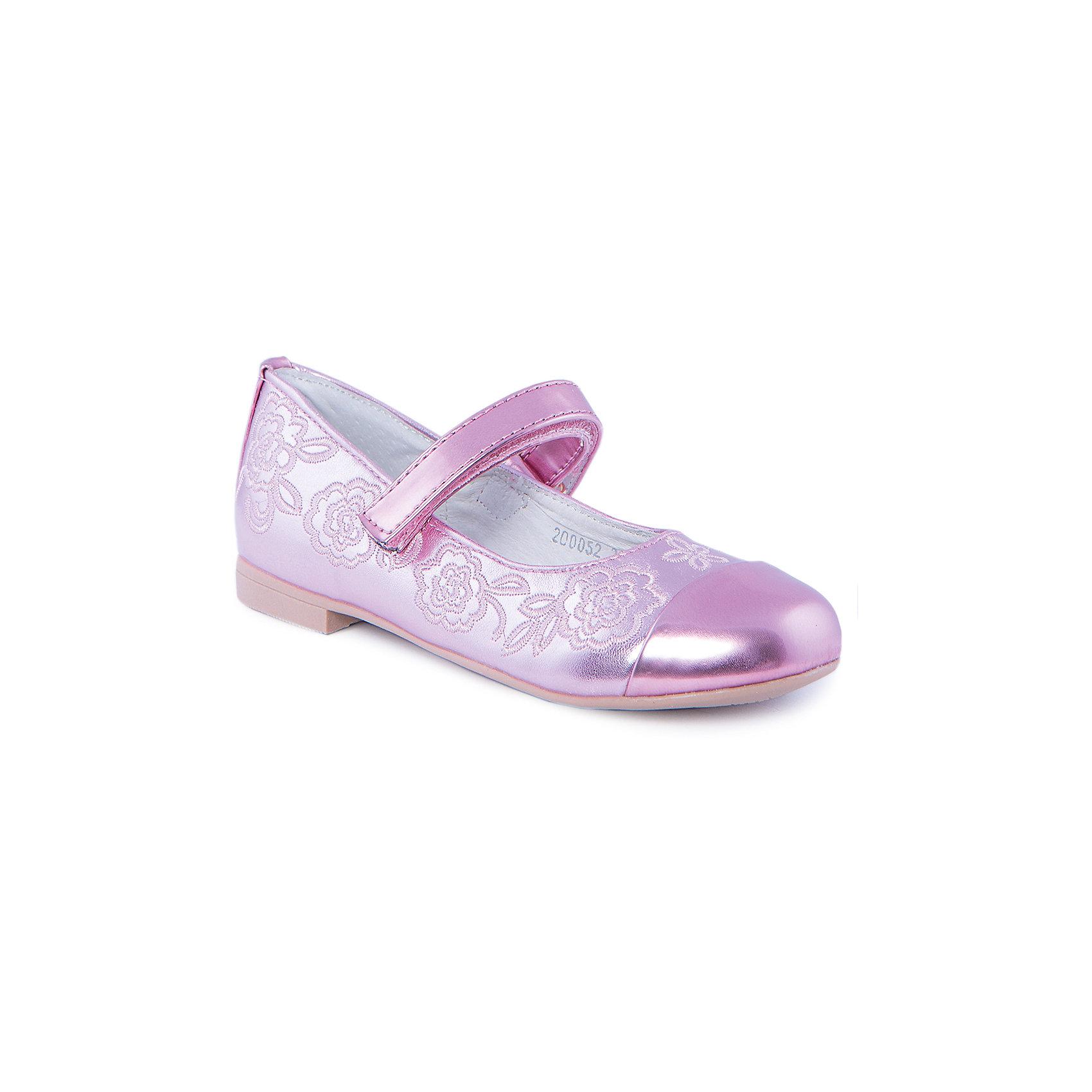 Туфли для девочки MURSUОбувь<br>Туфли для девочки от известного бренда MURSU обязательно понравятся всем юным модницам. Блестящие розовые туфельки декорированы изящной вышивкой, застегиваются на липучку. Модель имеет небольшой каблук, стелька и подкладка выполнены из натуральной кожи, что обеспечивает гигиеничность и комфорт. <br><br>Дополнительная информация:<br><br>- Цвет: розовый.<br>- Тип застежки: липучка.<br>- Декоративные элементы: вышивка.<br><br>Состав:<br><br>- Материал верха: искусственная кожа.<br>- Материал подкладки: натуральная кожа.<br>- Материал подошвы: TEP.<br>- Материал стельки: натуральная кожа.<br><br>Туфли для девочки MURSU (Мурсу), можно купить в нашем магазине.<br><br>Ширина мм: 227<br>Глубина мм: 145<br>Высота мм: 124<br>Вес г: 325<br>Цвет: розовый<br>Возраст от месяцев: 48<br>Возраст до месяцев: 60<br>Пол: Женский<br>Возраст: Детский<br>Размер: 28,26,30,27,31,29<br>SKU: 4213384