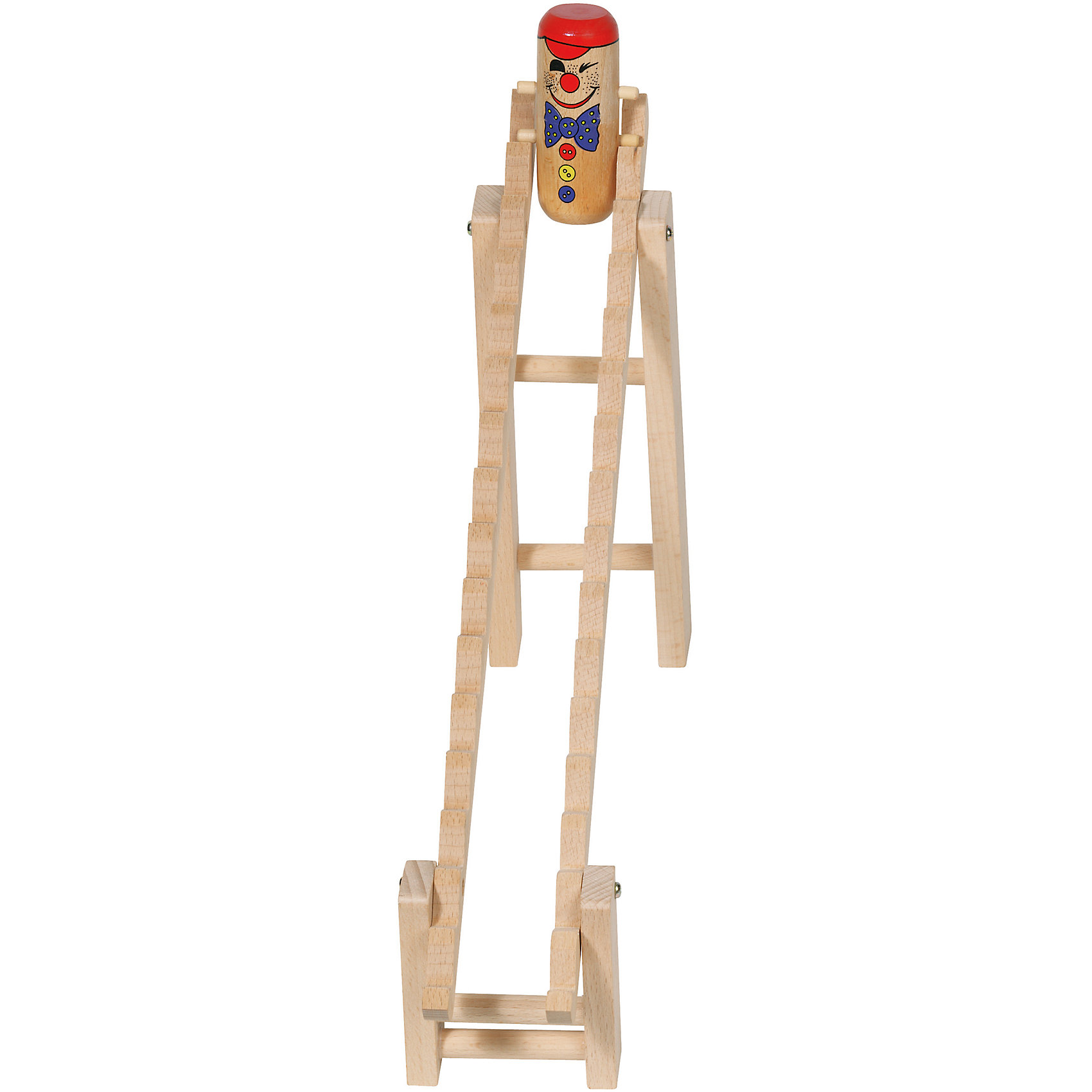 Клоун на лестнице, gokiЭта оригинальная игрушка обязательно понравится всем малышам! Клоун кувыркается через голову, спускаясь по лесенке. Игрушка выполнена из натурального дерева, раскрашена безопасными красителями. <br><br>Дополнительная информация:<br><br>- Материал: дерево.<br>- Размер: 44х25,5 см.<br><br>Клоуна на лестнице, goki (Гоки), можно купить в нашем магазине.<br><br>Ширина мм: 440<br>Глубина мм: 255<br>Высота мм: 60<br>Вес г: 384<br>Возраст от месяцев: 36<br>Возраст до месяцев: 2147483647<br>Пол: Унисекс<br>Возраст: Детский<br>SKU: 4214247