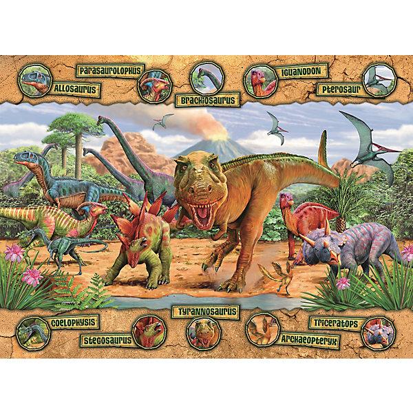 Купить Пазл «Динозавры» XXL 100 деталей, Ravensburger, Германия, Унисекс