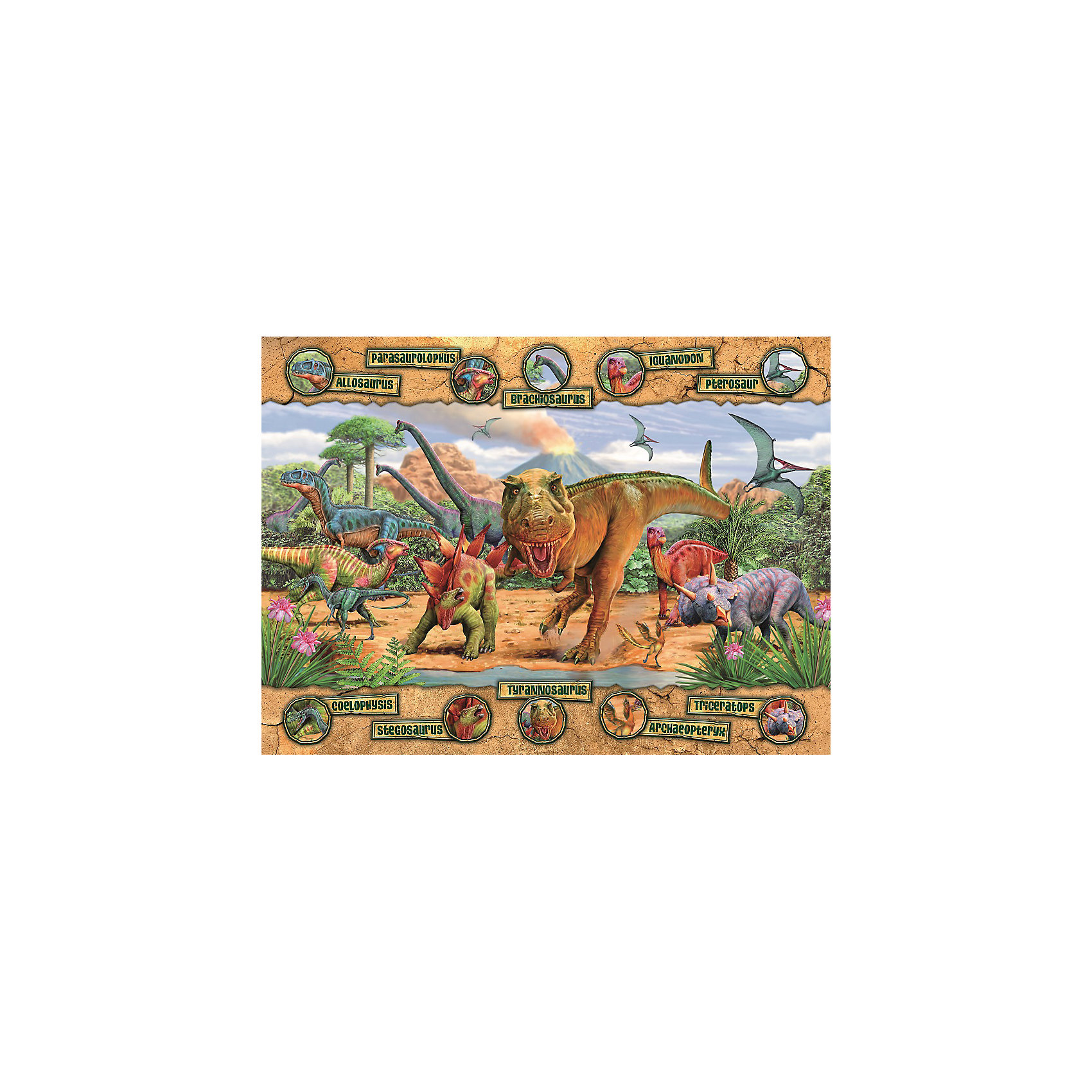 Ravensburger Пазл «Динозавры» XXL 100 деталей, Ravensburger ravensburger пазл скейтборды xxl 100 деталей