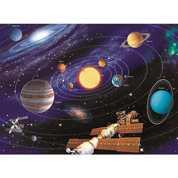 Пазл «Солнечная система» XXL 200 деталей, RavensburgerПазлы до 200 деталей<br>Пазл «Солнечная система» XXL 200 деталей, Ravensburger (Равенсбургер) – яркий детский пазл, который понравится всем членам семьи.<br>Сюжет пазла «Солнечная система» предлагает нам взглянуть на мир космоса немного ближе, здесь и Земля, и Юпитер, и Луна и Солнце и даже МКС! Вот он холодный, но дико красивый космос, который пленяет и завораживает. Пазл состоит из 200 качественных картонных деталей, которые не ломаются, не подвергаются деформации при сборке. Каждая деталь имеет свою форму и подходит только на свое место. Элементы пазла идеально соединяются друг с другом, не отслаиваются с течением времени. Матовая поверхность исключает отблески. Пазлы Ravensburger (Равенсбургер)- это высочайшее качество картона и полиграфии. Пазлы - замечательная развивающая игра для детей. Собирание пазла развивает у ребенка мелкую моторику рук, тренирует наблюдательность, логическое мышление, знакомит с окружающим миром, с цветом и разнообразными формами, учит усидчивости и терпению, аккуратности и вниманию.<br><br>Дополнительная информация:<br><br>- Количество деталей: 200 шт.<br>- Размер картинки: 49 х 36 см.<br>- Материал: картон<br>- Размер упаковки: 34 х 23 х 4 см.<br>- Вес: 571 гр.<br><br>Пазл «Солнечная система» XXL 200 деталей, Ravensburger (Равенсбургер) можно купить в нашем интернет-магазине.<br>Ширина мм: 340; Глубина мм: 230; Высота мм: 40; Вес г: 571; Возраст от месяцев: 96; Возраст до месяцев: 168; Пол: Унисекс; Возраст: Детский; Количество деталей: 200; SKU: 4214567;