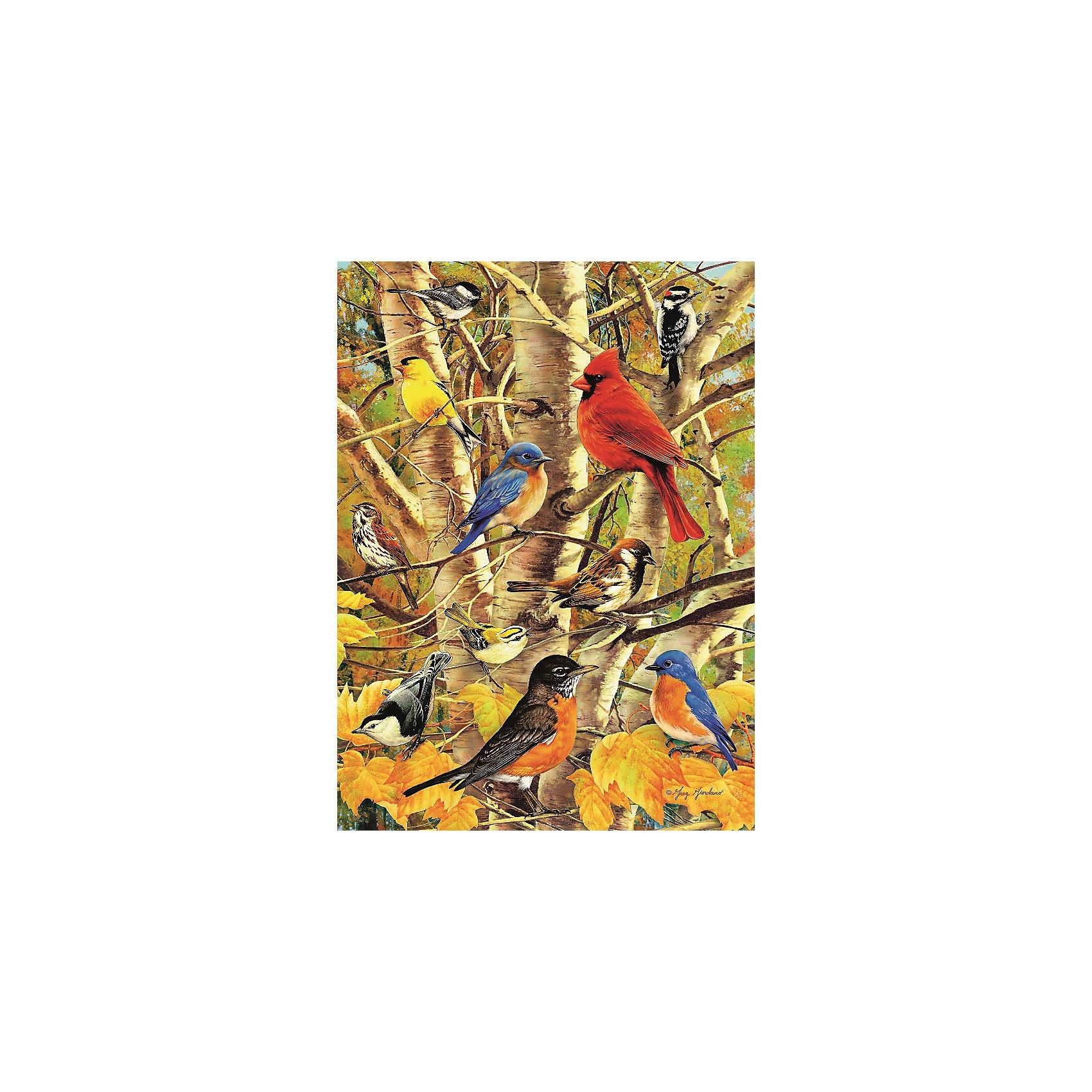 Пазл «Птицы в осеннем лесу» 500 деталей, RavensburgerПазл «Птицы в осеннем лесу» 500 деталей, Ravensburger (Равенсбургер) – это пазл отличного качества с яркими красками и реалистичной картинкой.<br>Собрав пазл «Птицы в осеннем лесу» вы получите великолепную картину с изображением птиц с ярким оперением, которые сидят на ветках деревьев в осеннем лесу. Приятные мягкие цвета красок радуют глаз. Каждая деталь пазла имеет свою форму и подходит только на свое место. Нет двух одинаковых деталей! Пазл изготовлен из картона высочайшего качества. Softclick технология гарантирует 100% соединение деталей. Детали не деформируются и не расслаиваются при сборке. Матовая поверхность приятна на ощупь и не отбрасывает блики на свету. Все изображения аккуратно отсканированы и напечатаны на ламинированной бумаге. Пазл - великолепная игра для семейного досуга. Сегодня собирание пазлов стало особенно популярным, главным образом, благодаря своей многообразной тематике, способной удовлетворить самый взыскательный вкус. А для детей это не только интересно, но и полезно. Собирание пазла развивает мелкую моторику у ребенка, тренирует наблюдательность, логическое мышление, знакомит с окружающим миром, с цветом и разнообразными формами.<br><br>Дополнительная информация:<br><br>- Количество деталей: 500 шт.<br>- Размер картинки: 49 х 36 см.<br>- Материал: картон<br>- Размер упаковки: 34 х 23 х 4 см.<br>- Вес: 579 гр.<br><br>Пазл «Птицы в осеннем лесу» 500 деталей, Ravensburger (Равенсбургер) можно купить в нашем интернет-магазине.<br><br>Ширина мм: 230<br>Глубина мм: 340<br>Высота мм: 40<br>Вес г: 579<br>Возраст от месяцев: 96<br>Возраст до месяцев: 192<br>Пол: Унисекс<br>Возраст: Детский<br>Количество деталей: 500<br>SKU: 4214575