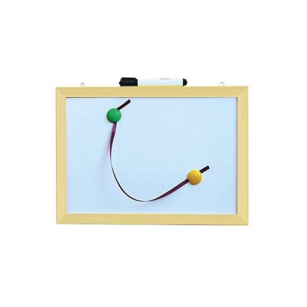 Магнитно-маркерная доска 30*40 см с аксессуарамиКоврики и доски для рисования<br>Магнитно-маркерная доска 30*40 см с аксессуарами - универсальный уголок для рисования и обучения.<br>Функциональная доска в деревянной раме прекрасно подойдет для повседневных занятий и рисования. Модель имеет возможность крепления на стену. В комплект входят 2 ярких магнита и специальный маркер. Такая замечательная доска пригодится для детских рисунков, составления первых слов и решения самых простых примеров. Маркер легко стирать с доски, что очень удобно для обучающих занятий.<br><br>Дополнительная информация:<br><br>- Размер: 30 х 40 х 2 см<br>- Материал: пластик, дерево<br>- Рама неокрашенная<br>- Комплектация: доска, маркер, магниты (2 шт.)<br>- Вес: 410 гр.<br><br>Магнитно-маркерную доску 30*40 см с аксессуарами можно купить в нашем интернет-магазине.<br><br>Ширина мм: 400<br>Глубина мм: 20<br>Высота мм: 300<br>Вес г: 410<br>Возраст от месяцев: 36<br>Возраст до месяцев: 192<br>Пол: Унисекс<br>Возраст: Детский<br>SKU: 4214644
