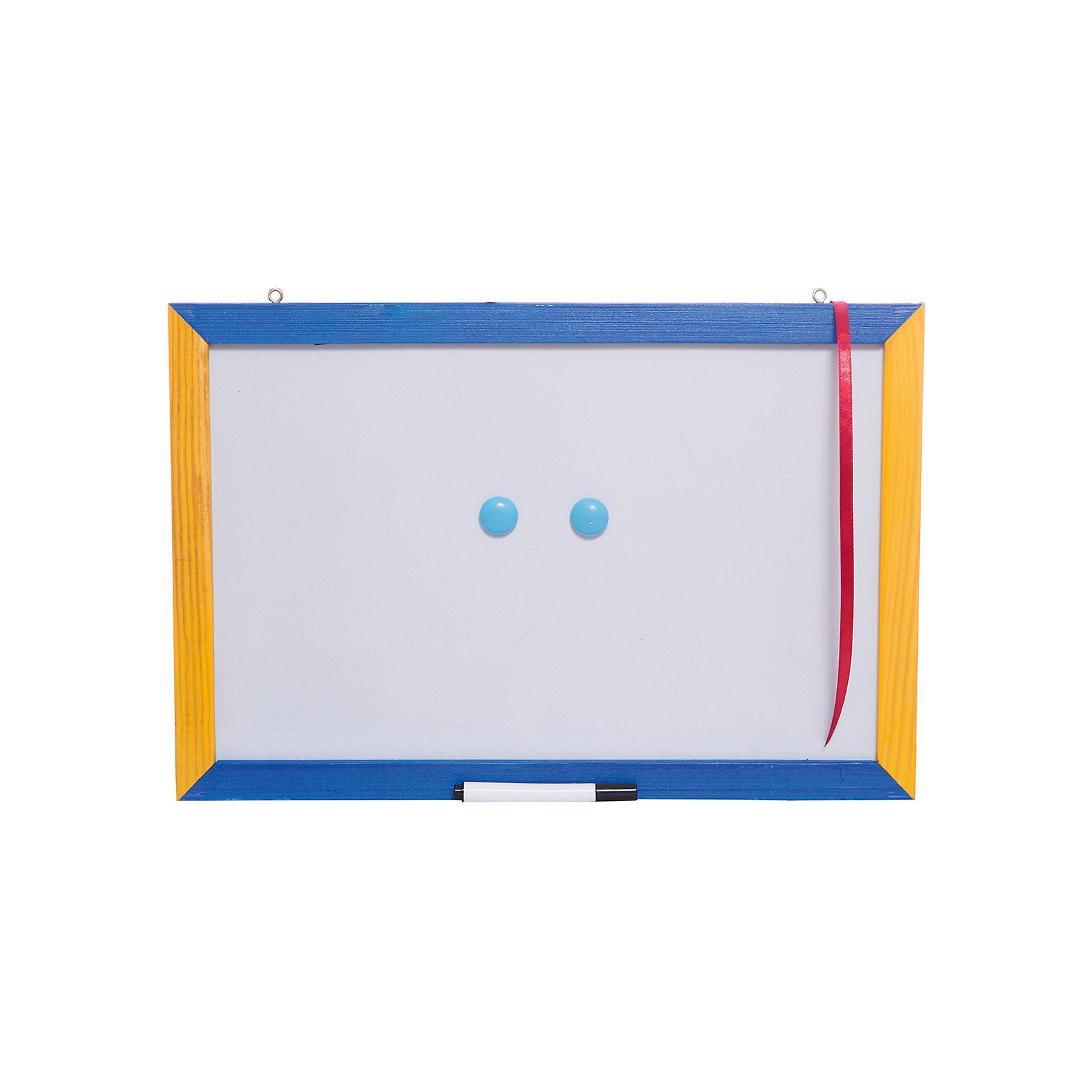Двусторонняя доска (магнитно-маркерная, грифельная) 30*40 см