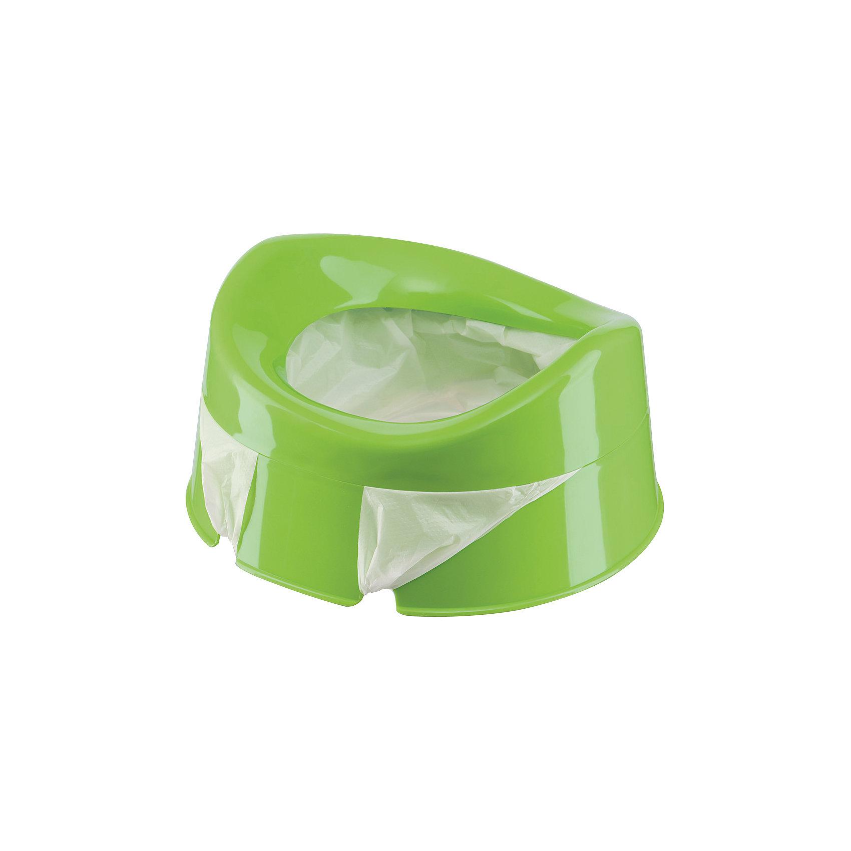 Дорожный горшок  Mini Potty, Happy Baby, зелёныйУникальный Дорожный горшок  Mini Potty (Мини Потти), Happy Baby (Хэппи Бэйби), зеленый со сменными пакетами станет для родителей незаменимым помощником в дороге или в гостях, а приучение к горшку вне дома станет удобней и приятней!<br><br>Характеристики:<br>-Можно использовать с 1,5 лет<br>-Удобно брать в дорогу<br>-Прекрасно подходит для приучения малыша к горшку<br>-Сменные пакеты легко крепятся, снимаются и утилизируются после использования<br>-Можно купить дополнительные пакеты<br><br>Комплектация: горшок, 10 одноразовых пакетов<br><br>Дополнительная информация:<br>-Цвет: зеленый<br>-Материалы: полипропилен, полиэтилен<br>-Размеры в упаковке: 7х23,5х25 см<br>-Вес в упаковке: 400 г<br><br>Благодаря дорожному горшку с набором одноразовых пакетов Вы сможете приучать малыша к горшку не только дома, но и в дороге или гостях!<br><br>Дорожный горшок  Mini Potty (Мини Потти), Happy Baby (Хэппи Бэйби), зеленый можно купить в нашем магазине.<br><br>Ширина мм: 70<br>Глубина мм: 235<br>Высота мм: 250<br>Вес г: 400<br>Цвет: зеленый<br>Возраст от месяцев: 12<br>Возраст до месяцев: 36<br>Пол: Унисекс<br>Возраст: Детский<br>SKU: 4214809