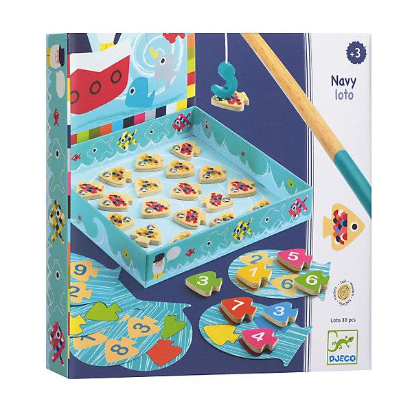Настольная игра Морское лото, DJECOЛото<br>Настольная игра Морское лото, Djeco (Джеко) - новая увлекательная версия любимой малышами игры Рыбалка, дополненная обучающим элементами. В комплекте Вы найдете игровые карты с числовыми  и цветными полями, 24 деревянные фигурки рыбок на магнитах и удочку. На каждой фигурке нарисована цифра. Задача игроков - по очереди вытаскивать удочкой рыбок и располагать их на карточках согласно цифрам или цветам. Набор изготовлен из безопасных высококачественных материалов. <br><br>Дополнительная информация:<br><br>- В наборе: 24 рыбки, 3 карты с цветными полями, 3 карты с числовыми полями, удочка.<br>- Материал: картон, дерево.<br>- Размер упаковки: 22,6 x 22,6 x 4 см.<br><br>Настольную игру Морское лото, Djeco (Джеко), можно купить в нашем интернет-магазине.<br>Ширина мм: 230; Глубина мм: 280; Высота мм: 10; Вес г: 450; Возраст от месяцев: 36; Возраст до месяцев: 84; Пол: Унисекс; Возраст: Детский; SKU: 4215008;