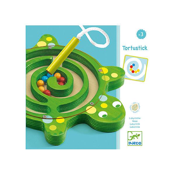 Настольная игра - лабиринт Черепаха, DJECOНастольные игры для всей семьи<br>Настольная игра-лабиринт Черепаха, Djeco (Джеко), - красочная увлекательная игра, которая обязательно понравится Вашему малышу. В комплекте Вы найдете зеленое игровое поле с лабиринтом в виде фигуры симпатичной черепашки и разноцветные шарики на магнитах. Малышу нужно<br>расположить шарики в лабиринте в той последовательности, которая указана карточке с заданием. Шарики перемещаются по полю с помощью магнитной палочки. Все детали изготовлены из высококачественных безопасных для детского здоровья материалов. Игра развивает<br>логическое и пространственное мышление, внимательность, усидчивость, тренирует мелкую моторику.  <br><br><br>Дополнительная информация:<br><br>- В комплекте: игровое поле с шариками, 12 карточек с заданиями, магнитная палочка.<br>- Материал: картон, дерево, текстиль.<br>- Размер упаковки: 22,5 х 15 х 1,5 см.<br><br>Настольную игру-лабиринт Черепаха, Djeco (Джеко), можно купить в нашем интернет-магазине.<br><br>Ширина мм: 30<br>Глубина мм: 280<br>Высота мм: 10<br>Вес г: 430<br>Возраст от месяцев: 24<br>Возраст до месяцев: 72<br>Пол: Унисекс<br>Возраст: Детский<br>SKU: 4215010