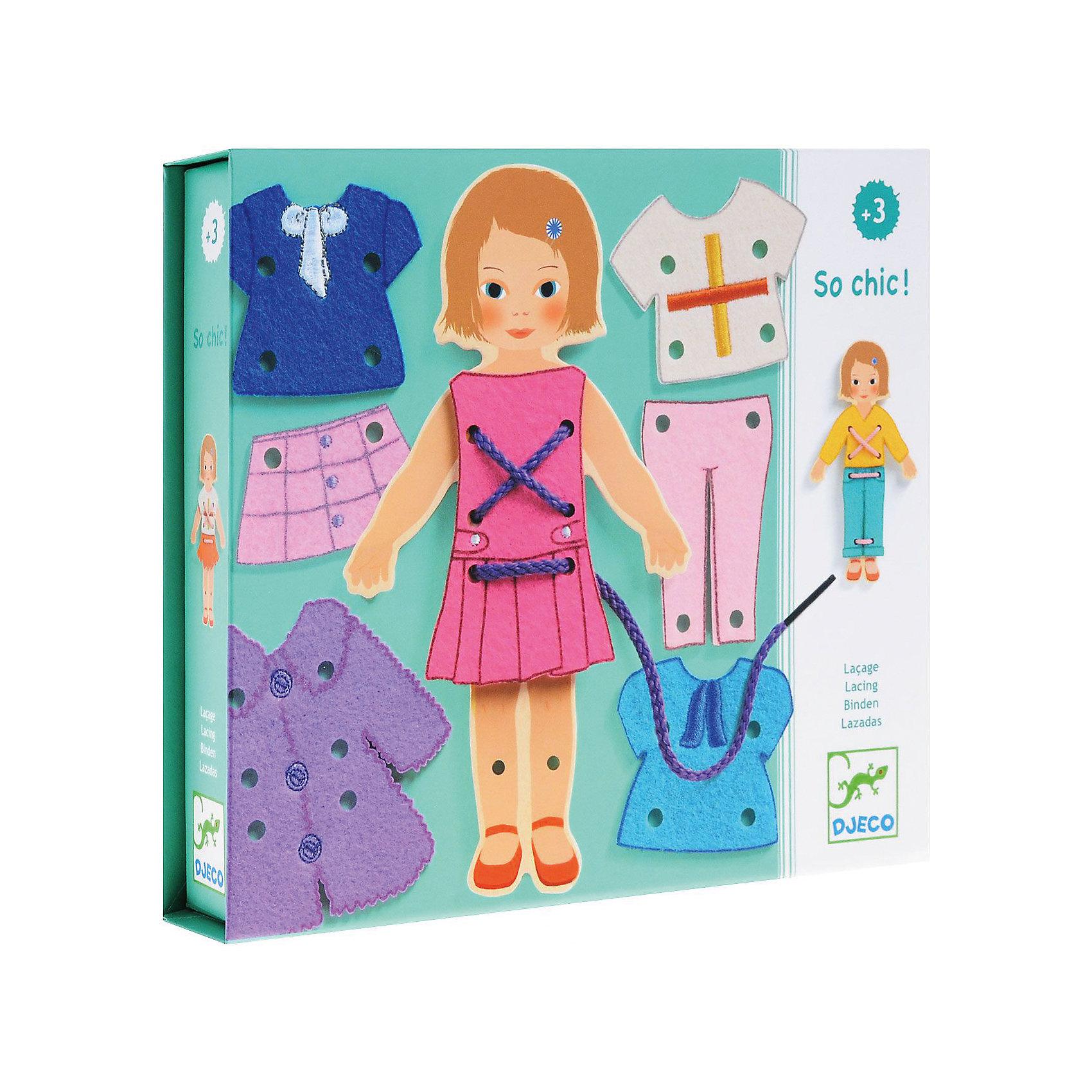 Настольная игра Какой стиль!, DJECOНастольная игра Какой стиль!, Djeco (Джеко) - новый вариант любимых многими девочками игр с одеванием куклы. В комплекте Вы найдете очаровательную картонную куколку и различные предметы одежды к ней. Девочке предлагается придумать для куколки новые наряды на все случаи жизни. Одежда прикрепляется к фигурке с помощью шнурка, который нужно продевать в имеющиеся отверстия. Все детали изготовлены из высококачественных материалов и покрыты безопасными красками. Игра развивает творческое воображение и фантазию, тренирует мелкую моторику.<br><br>Дополнительная информация:<br><br>- Материал: картон, текстиль<br>- Размер упаковки: 21,8 x 18,5 x 4 см.<br><br><br>Настольную игру Какой стиль!, Djeco (Джеко), можно купить в нашем интернет-магазине.<br><br>Ширина мм: 40<br>Глубина мм: 280<br>Высота мм: 10<br>Вес г: 380<br>Возраст от месяцев: 36<br>Возраст до месяцев: 84<br>Пол: Женский<br>Возраст: Детский<br>SKU: 4215011