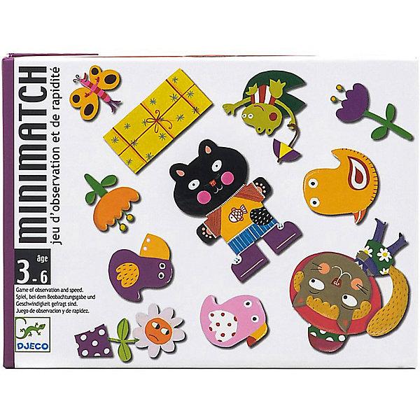Игра Миниматч, DJECOОкружающий мир<br>Увлекательная настольная игра Миниматч, Djeco (Джеко), идеально подходит для совместного времяпрепровождения с ребенком. Игра представляет собой адаптированный для детей вариант классических карточных игр. В комплект входит колода из 72 карт: 12 больших карт путаница и 60 игральных карт. В игре участвует от 2 до 5 игроков, каждый получает по 5 игральных карт с изображением различных элементов. Карты путаница выкладываются в центре стола рубашкой вниз. Участники по очереди открывают карты путаница и если перевернутая карта совпала с их собственной - скорее выбрасывают свою, пока совпадение не успели найти соперники. В случае ошибки игрок добирает дополнительные карты из колоды. Побеждает участник быстрее всех избавившийся от карт. Игра развивает логическое мышление, внимание, быстроту реакции и наблюдательность.<br><br>Дополнительная информация:<br><br>- В комплекте: 72 карты (12 больших карт путаница, 60 игральных карт).<br>- Материал: картон.<br>- Размер упаковки: 16 х 12 х 3 см.<br>- Вес: 0,3 кг. <br><br> Игру Миниматч, Djeco (Джеко), можно ,купить в нашем интернет-магазине.<br>Ширина мм: 120; Глубина мм: 280; Высота мм: 10; Вес г: 290; Возраст от месяцев: 36; Возраст до месяцев: 72; Пол: Унисекс; Возраст: Детский; SKU: 4215014;
