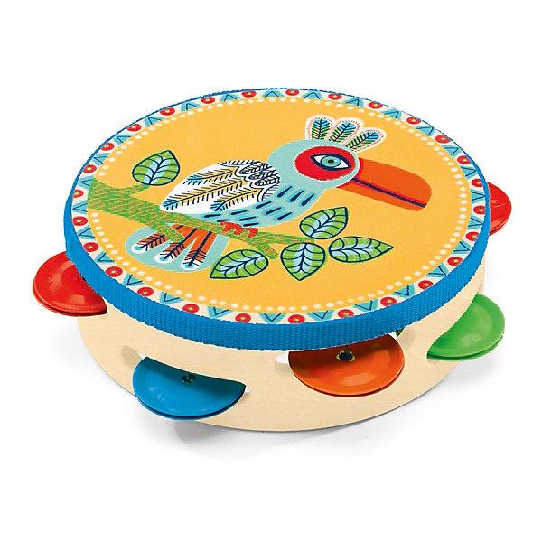 Тамбурин, DJECOДетские музыкальные инструменты<br>Чудесный красочный тамбурин, Djeco (Джеко), непременно понравится Вашему ребенку и поможет ему развить свои музыкальные способности. Ударяя по тамбурину он будет придумывать собственные мелодии и музыкальные композиции. Игрушка имеет яркий, привлекательный для ребенка дизайн с разноцветными тарелочками и изображением красочной тропической птицы. Игрушка изготовлена из безопасных высококачественных материалов. Игра на тамбурине способствует развитию чувства ритма, музыкального слуха и творческих способностей ребенка.<br><br>Дополнительная информация:<br><br>- Материал: дерево, металл.<br>- Размер игрушки: 14,5 х 4,5 см.<br>- Размер упаковки: 17 х 17,5 х 5 см.<br><br>Тамбурин, Djeco (Джеко), можно ,купить в нашем интернет-магазине.<br><br>Ширина мм: 180<br>Глубина мм: 280<br>Высота мм: 10<br>Вес г: 180<br>Возраст от месяцев: 36<br>Возраст до месяцев: 72<br>Пол: Унисекс<br>Возраст: Детский<br>SKU: 4215019