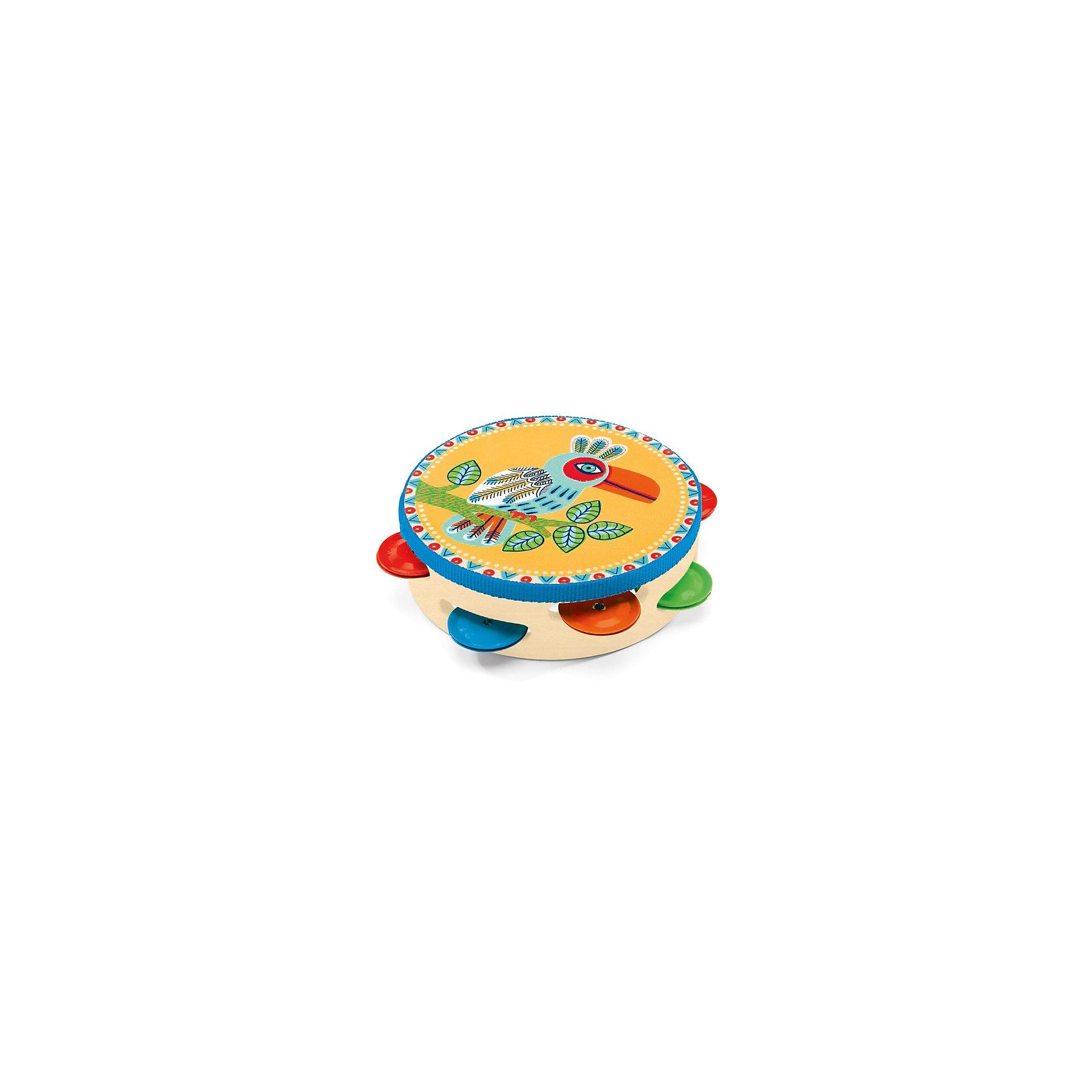 Тамбурин, DJECOЧудесный красочный тамбурин, Djeco (Джеко), непременно понравится Вашему ребенку и поможет ему развить свои музыкальные способности. Ударяя по тамбурину он будет придумывать собственные мелодии и музыкальные композиции. Игрушка имеет яркий, привлекательный для ребенка дизайн с разноцветными тарелочками и изображением красочной тропической птицы. Игрушка изготовлена из безопасных высококачественных материалов. Игра на тамбурине способствует развитию чувства ритма, музыкального слуха и творческих способностей ребенка.<br><br>Дополнительная информация:<br><br>- Материал: дерево, металл.<br>- Размер игрушки: 14,5 х 4,5 см.<br>- Размер упаковки: 17 х 17,5 х 5 см.<br><br>Тамбурин, Djeco (Джеко), можно ,купить в нашем интернет-магазине.<br><br>Ширина мм: 180<br>Глубина мм: 280<br>Высота мм: 10<br>Вес г: 180<br>Возраст от месяцев: 36<br>Возраст до месяцев: 72<br>Пол: Унисекс<br>Возраст: Детский<br>SKU: 4215019