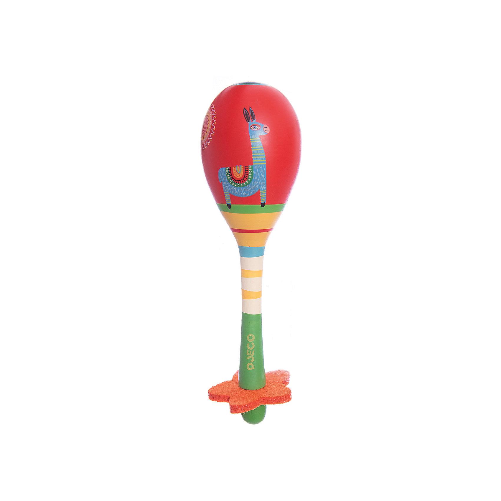 Маракас, DJECOЧудесный красочный маракас, Djeco (Джеко), непременно понравится Вашему ребенку и поможет ему развить свои музыкальные способности. С его помощью он будет придумывать собственные мелодии и музыкальные композиции. Игрушка имеет яркий, привлекательный для ребенка дизайн с разноцветными узорами и изображением симпатичной ламы, ручка с красным цветочком очень удобна для ручек малыша. Игрушка изготовлена из высококачественного дерева и покрыта безопасными нетоксичными красками. Игра на маракасе способствует развитию чувства ритма, музыкального слуха и творческих способностей ребенка, тренирует мелкую моторику.<br><br>Дополнительная информация:<br><br>- Материал: дерево.<br>- Размер игрушки: 5,8 х 18,3 см.<br>- Размер упаковки: 22,5 х 20 х 14 см.<br>- Вес: 0,1 кг.<br><br>Маракас, Djeco (Джеко), можно купить в нашем интернет-магазине.<br><br>Ширина мм: 60<br>Глубина мм: 280<br>Высота мм: 10<br>Вес г: 100<br>Возраст от месяцев: 36<br>Возраст до месяцев: 72<br>Пол: Унисекс<br>Возраст: Детский<br>SKU: 4215020