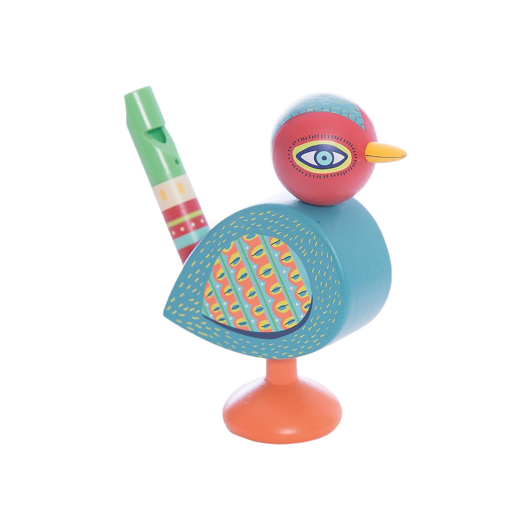 Свистулька, DJECOМузыкальные инструменты и игрушки<br>Чудесная красочная свистулька, Djeco (Джеко), непременно привлечет внимание Вашего малыша и отлично подойдет в качестве его первого музыкального инструмента. Игрушка выполнена  в виде очаровательной разноцветной птички с хвостиком-свистулькой. Размер и формы очень удобны для маленьких ручек малыша. Свистулька изготовлена из высококачественного дерева и покрыта безопасными нетоксичными красками. Игрушка способствует развитию музыкального слуха и творческих способностей ребенка, тренирует мелкую моторику.<br><br>Дополнительная информация:<br><br>- Материал: дерево.<br>- Размер: 10,9 х 3,55 х 10,7 см. <br><br>Свистульку, Djeco (Джеко), можно купить в нашем интернет-магазине.<br><br>Ширина мм: 30<br>Глубина мм: 280<br>Высота мм: 10<br>Вес г: 90<br>Возраст от месяцев: 36<br>Возраст до месяцев: 72<br>Пол: Унисекс<br>Возраст: Детский<br>SKU: 4215021