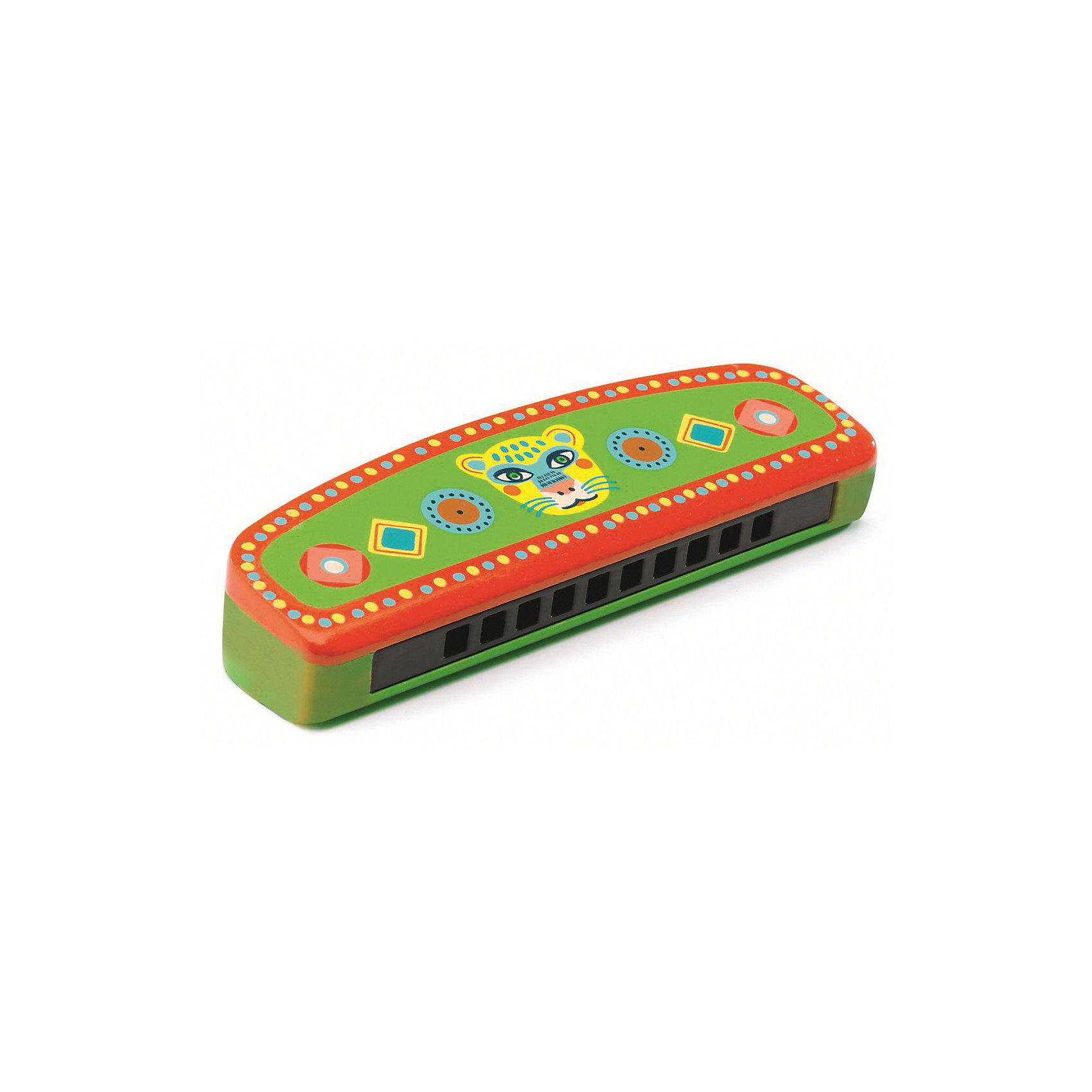 Игрушка Губная гармошка, DJECOДругие музыкальные инструменты<br>Чудесная губная гармошка, Djeco (Джеко), непременно понравится Вашему ребенку и поможет ему развить свои музыкальные способности. С ее помощью он будет придумывать собственные мелодии и музыкальные композиции. Игрушка выполнена в ярких, привлекательных цветах и украшена разноцветными узорами, имеет чистый мелодичный звук и удобный для маленьких детских ручек размер. Гармошка изготовлена из высококачественного дерева с использованием безопасных нетоксичных красок. Игра на губной гармошке способствует развитию чувства ритма, музыкального слуха и творческих способностей ребенка, тренирует мелкую моторику.<br><br>Дополнительная информация:<br><br>- Материал: дерево.<br>- Размер игрушки: 15,4 х 4,3 х 2,5 см.<br>- Размер упаковки: 13 х 13 х 15,5 см.<br>- Вес: 80 гр.<br><br>Губную гармошку, Djeco (Джеко), можно купить в нашем магазине.<br><br>Ширина мм: 40<br>Глубина мм: 280<br>Высота мм: 10<br>Вес г: 80<br>Возраст от месяцев: 36<br>Возраст до месяцев: 72<br>Пол: Унисекс<br>Возраст: Детский<br>SKU: 4215023