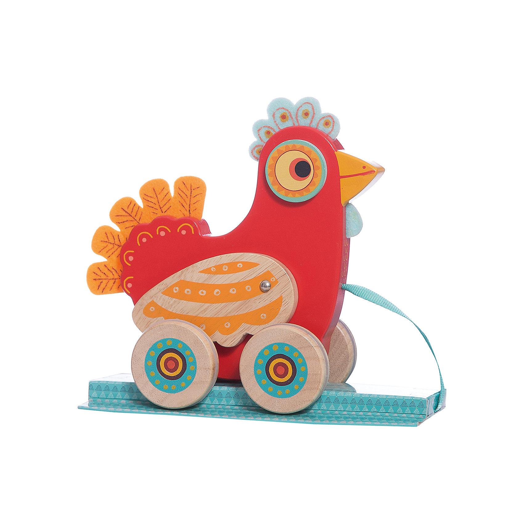 Каталка Курочка, DJECOИгрушки-каталки<br>Красочная каталка Курочка, Djeco (Джеко), с оригинальным дизайном обязательно привлечет внимание Вашего малыша. Яркая игрушка выполнена в виде симпатичной деревянной курочки с гребешком и хвостиком из приятного на ощупь текстиля. У игрушки крупные широкие колеса, благодаря которым малышу будет удобно катать ее как дома так и на прогулке. Во время движения курочка забавно машет крылышками. Игрушка изготовлена из высококачественных материалов и покрыта безопасными нетоксичными красками. Прекрасно развивает мелкую моторику рук, координацию и тактильные навыки.<br><br>Дополнительная информация:<br><br>- Материал: дерево, текстиль.<br>- Размер игрушки: 18,5 х 18 х 8 см.<br>- Размер упаковки: 21 х 19 х 9,5 см.<br>- Вес: 0,458 кг.<br><br>Каталку Курочка, Djeco (Джеко), можно купить в нашем интернет-магазине.<br><br>Ширина мм: 100<br>Глубина мм: 280<br>Высота мм: 10<br>Вес г: 620<br>Возраст от месяцев: 12<br>Возраст до месяцев: 36<br>Пол: Унисекс<br>Возраст: Детский<br>SKU: 4215025