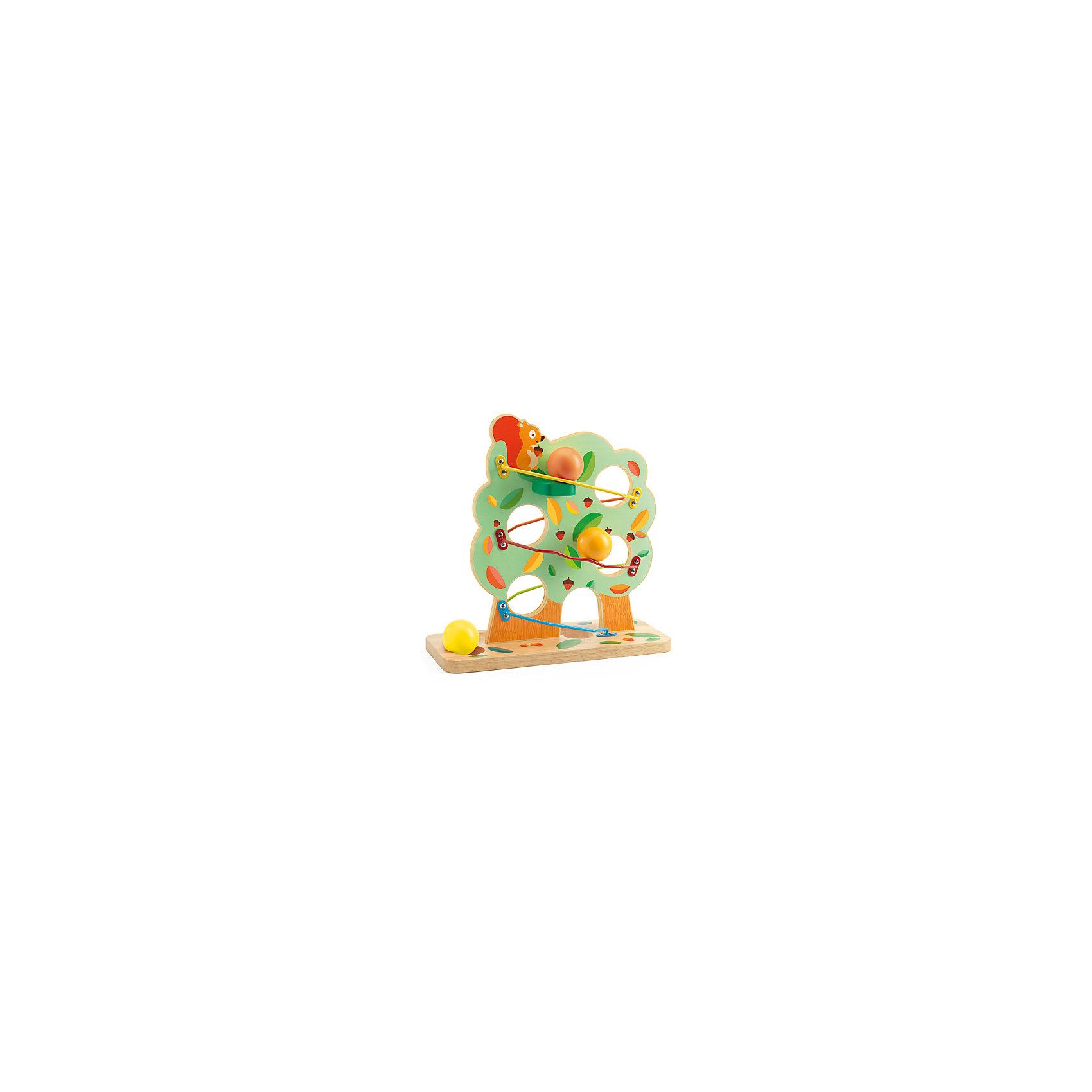Кугельбан Беличий домик, DJECOКугельбан Беличий домик, Djeco (Джеко), - красочная развивающая игрушка для самых маленьких. Игрушка выполнена в виде зеленой кроны дерева с нарисованной симпатичной белочкой и большими отверстиями для шаров. Вдоль кроны есть металлические направляющие, по которым будут двигаться шарики-орешки. Малыш с интересом будет следить за тем, как шарики скатываются с вершины кроны на землю, пропадая на одной стороне дерева и появляясь на другой. Игрушка изготовлена из высококачественных материалов и покрыта безопасными нетоксичными красками. Прекрасно развивает воображение и логическое мышление, ловкость и внимательность, тренирует мелкую моторику рук.<br><br>Дополнительная информация:<br><br>- В комплекте: основа-дерево, 3 деревянных шара.<br>- Материал: дерево, металл.<br>- Размер игрушки: 30 х 29 х 12 см.<br>- Размер упаковки: 30,5 х 30 х 12,5 см.<br>- Вес: 0,35 кг.<br><br>Кугельбан Беличий домик, Djeco (Джеко), можно купить в нашем интернет-магазине.<br><br>Ширина мм: 130<br>Глубина мм: 280<br>Высота мм: 10<br>Вес г: 1260<br>Возраст от месяцев: 24<br>Возраст до месяцев: 72<br>Пол: Унисекс<br>Возраст: Детский<br>SKU: 4215026