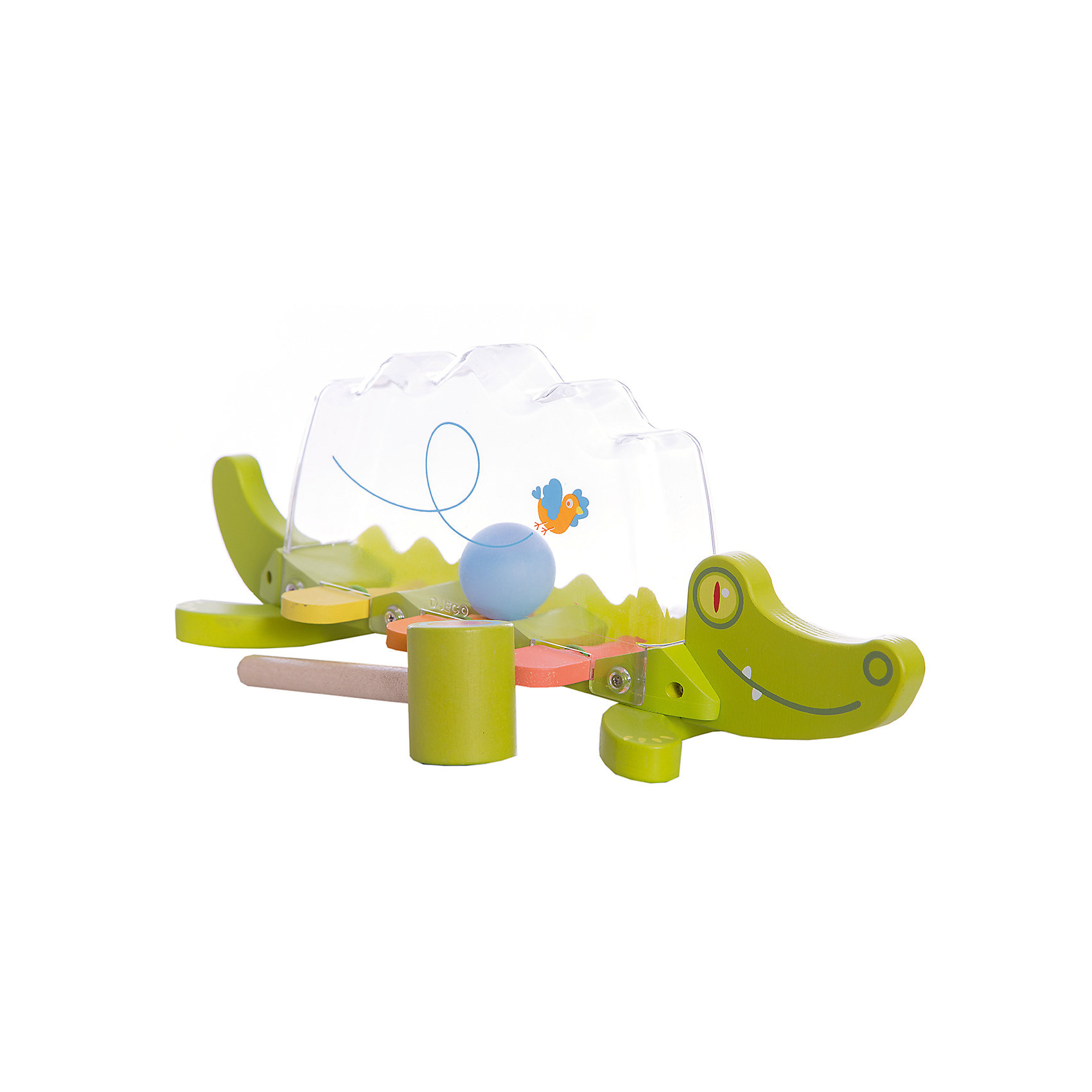 DJECO Развивающая игрушка Крокодил, DJECO развивающая игрушка djeco зверюшки попрыгунчики пастель 06105