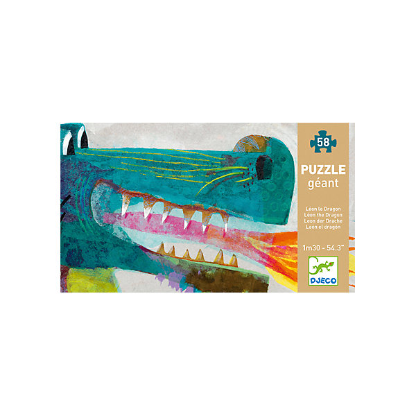 Пазл Дракон, DJECOПазлы для малышей<br>Пазл Дракон, Djeco (Джеко) - оригинальный развивающий набор, который станет отличным подарком для Вашего ребенка. С помощью входящих в набор деталей он сможет собрать красочную фигуру фантастического дракона, его длина - целых 138 см. Для сборки понадобятся 58 элементов. Пазл отличается высоким качеством полиграфии и насыщенными цветами, детали прекрасно скрепляются между собой. Собирание пазла способствует развитию логического мышления, внимания, мелкой моторики и координации движений.<br> <br>Дополнительная информация:<br><br>- Материал: многослойный картон. <br>- Количество деталей: 58.<br>- Длина собранного пазла: 138 см.<br>- Размер упаковки: 33 х 19 х 9 см.<br><br>Пазл Дракон, Djeco (Джеко), можно купить в нашем интернет-магазине.<br>Ширина мм: 90; Глубина мм: 280; Высота мм: 10; Вес г: 1440; Возраст от месяцев: 48; Возраст до месяцев: 96; Пол: Унисекс; Возраст: Детский; SKU: 4215033;