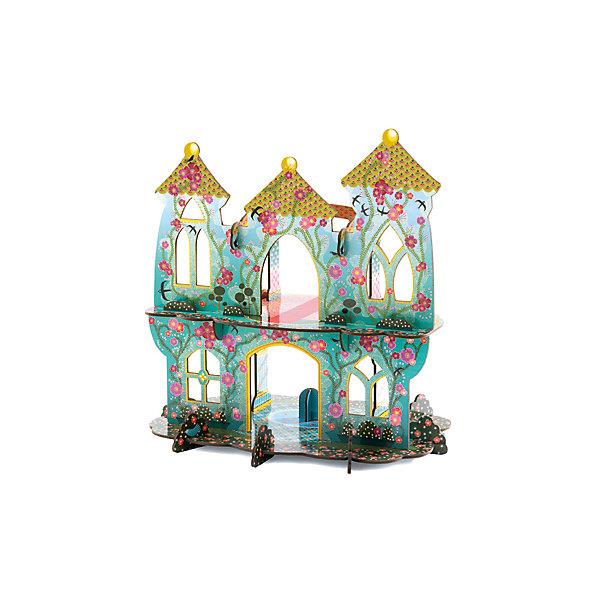 Волшебный замок, DJECOДомики для кукол<br>Волшебный замок, Djeco (Джеко) - оригинальный конструктор для девочек. Из плотных картонных деталей Ваша девочка легко соберет необыкновеннок красивый и воздушный сказочный замок. В замке два этажа, внешние стены выполнены в красивой голуой расцыетке и украшены цветами, верхний этаж венчают три остроконечные башенки. Детали хорошо скрепляются друг с другом, не позволяя конструкции развалиться. Замок станет прекрасным местом для игр с куклами и любимыми игрушками. Набор способствует развитию воображения и тврческого мышления, навыков конструирования, трениркет мелкую моторику.<br> <br>Дополнительная информация:<br><br>- В комплекте: 20 деталей для сборки.<br>- Материал: картон. <br>- Размер собранного замка: 34 х 25 х 35 см.<br>- Размер упаковки: 25 х 46 х 2,8 см.<br><br><br>Волшебный замок, Djeco (Джеко), можно купить в нашем интернет-магазине.<br><br>Ширина мм: 250<br>Глубина мм: 280<br>Высота мм: 10<br>Вес г: 1260<br>Возраст от месяцев: 48<br>Возраст до месяцев: 96<br>Пол: Женский<br>Возраст: Детский<br>SKU: 4215034