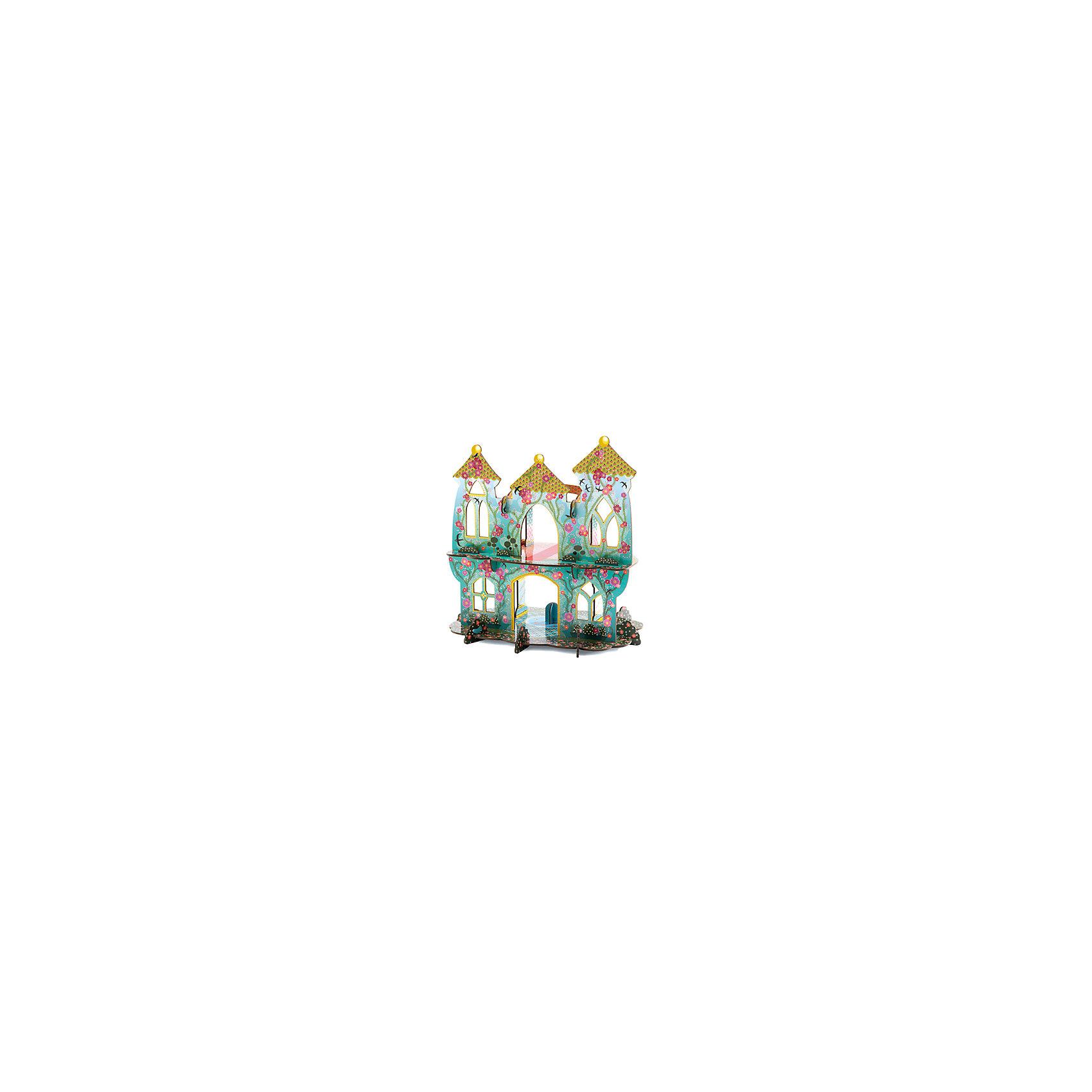 Волшебный замок, DJECOПрочие бренды конструкторов<br>Волшебный замок, Djeco (Джеко) - оригинальный конструктор для девочек. Из плотных картонных деталей Ваша девочка легко соберет необыкновеннок красивый и воздушный сказочный замок. В замке два этажа, внешние стены выполнены в красивой голуой расцыетке и украшены цветами, верхний этаж венчают три остроконечные башенки. Детали хорошо скрепляются друг с другом, не позволяя конструкции развалиться. Замок станет прекрасным местом для игр с куклами и любимыми игрушками. Набор способствует развитию воображения и тврческого мышления, навыков конструирования, трениркет мелкую моторику.<br> <br>Дополнительная информация:<br><br>- В комплекте: 20 деталей для сборки.<br>- Материал: картон. <br>- Размер собранного замка: 34 х 25 х 35 см.<br>- Размер упаковки: 25 х 46 х 2,8 см.<br><br><br>Волшебный замок, Djeco (Джеко), можно купить в нашем интернет-магазине.<br><br>Ширина мм: 250<br>Глубина мм: 280<br>Высота мм: 10<br>Вес г: 1260<br>Возраст от месяцев: 48<br>Возраст до месяцев: 96<br>Пол: Женский<br>Возраст: Детский<br>SKU: 4215034