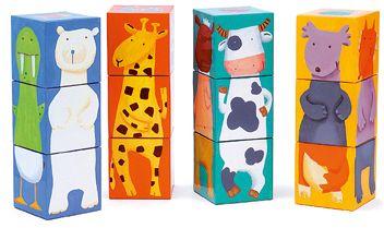 Кубики Животные , 12 шт., DJECO