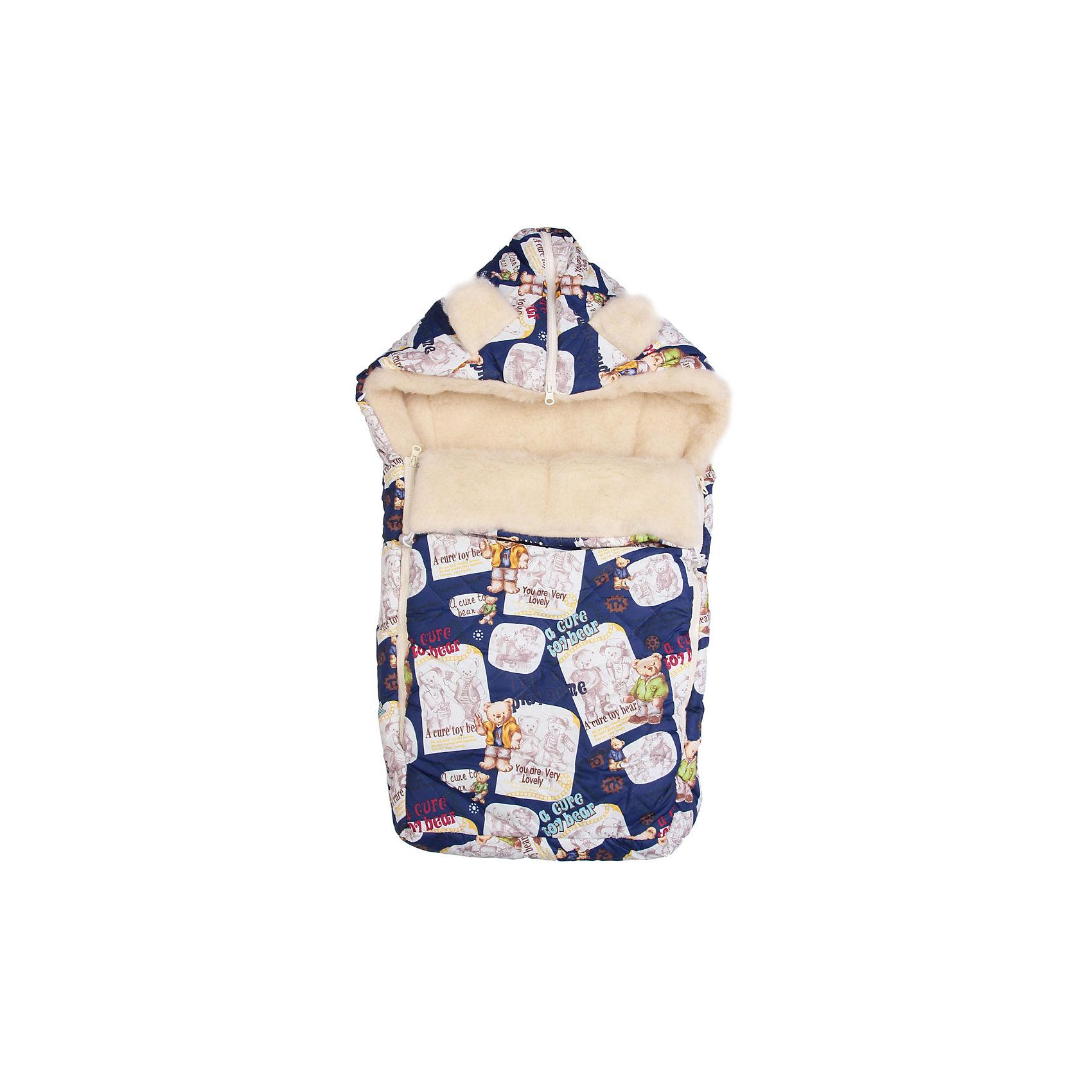 Конверт на овчине Мишуткина газета, Leader Kids, синий/белыйТеплый конверт выполнен из высококачественных гипоаллергенных материалов, прекрасно сохраняет тепло и пропускает воздух, создавая комфортный микроклимат в любую погоду. Практичный конверт застегивается на молнию и имеет капюшон. Идеальный вариант для прогулок.<br><br>Дополнительная информация:<br><br>- Материал: утеплитель - синтепон; подкладка - шерсть; наружный материал - полиэстер.<br>- Размер: 80х45 см.<br>- Сезон: осень, зима.<br>- Тип застежки: молния.<br>- Декоративные элементы: принт. <br>- Цвет: синий. <br><br>Конверт на овчине Мишуткина газета, Leader Kids, синий, можно купить в нашем магазине.<br><br>Ширина мм: 50<br>Глубина мм: 250<br>Высота мм: 400<br>Вес г: 500<br>Цвет: синий/белый<br>Возраст от месяцев: 0<br>Возраст до месяцев: 6<br>Пол: Унисекс<br>Возраст: Детский<br>SKU: 4217308