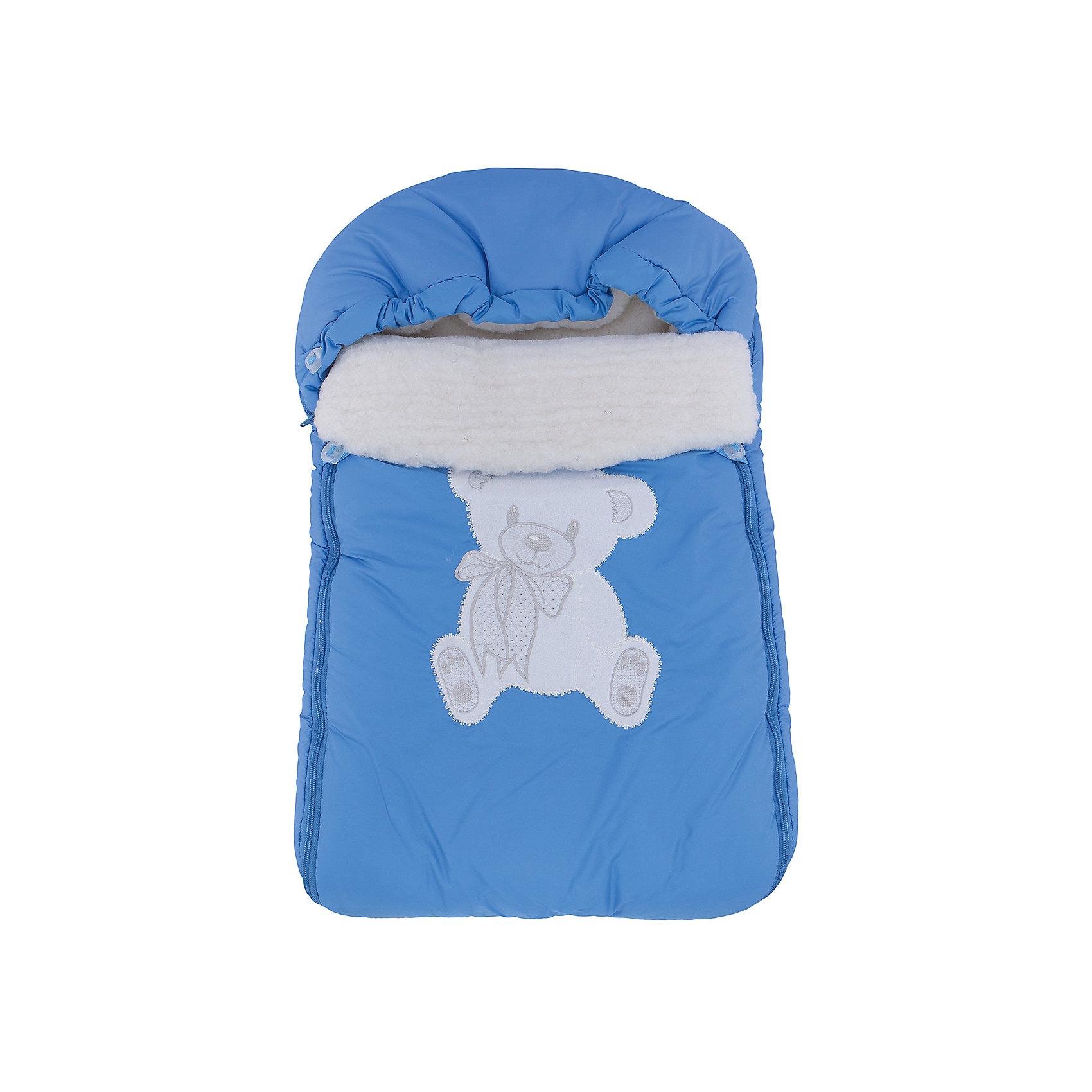 Конверт на овчине с аппликацией Медведь, Leader Kids, голубойОригинальный конверт - прекрасный вариант для холодной погоды. Конверт выполнен из непромокаемой ткани, на меховой подкладке - очень уютные и теплый. Модель застегивается на молнию, имеет удобный просторный капюшон, нижняя часть  отстегивается – таким образом можно легко регулировать длину конверта. <br><br>Дополнительная информация:<br><br>- Материал: утеплитель - синтепон; подкладка - шерсть; наружный материал - полиэстер.<br>- Размер: 80х45 см.<br>- Сезон: осень, зима.<br>- Тип застежки: молния.<br>- Декоративные элементы: аппликация. <br>- Цвет: голубой. <br><br>Конверт на овчине Медведь, Leader Kids, синий, можно купить в нашем магазине.<br><br>Ширина мм: 50<br>Глубина мм: 250<br>Высота мм: 400<br>Вес г: 500<br>Цвет: голубой<br>Возраст от месяцев: 0<br>Возраст до месяцев: 6<br>Пол: Мужской<br>Возраст: Детский<br>SKU: 4217309